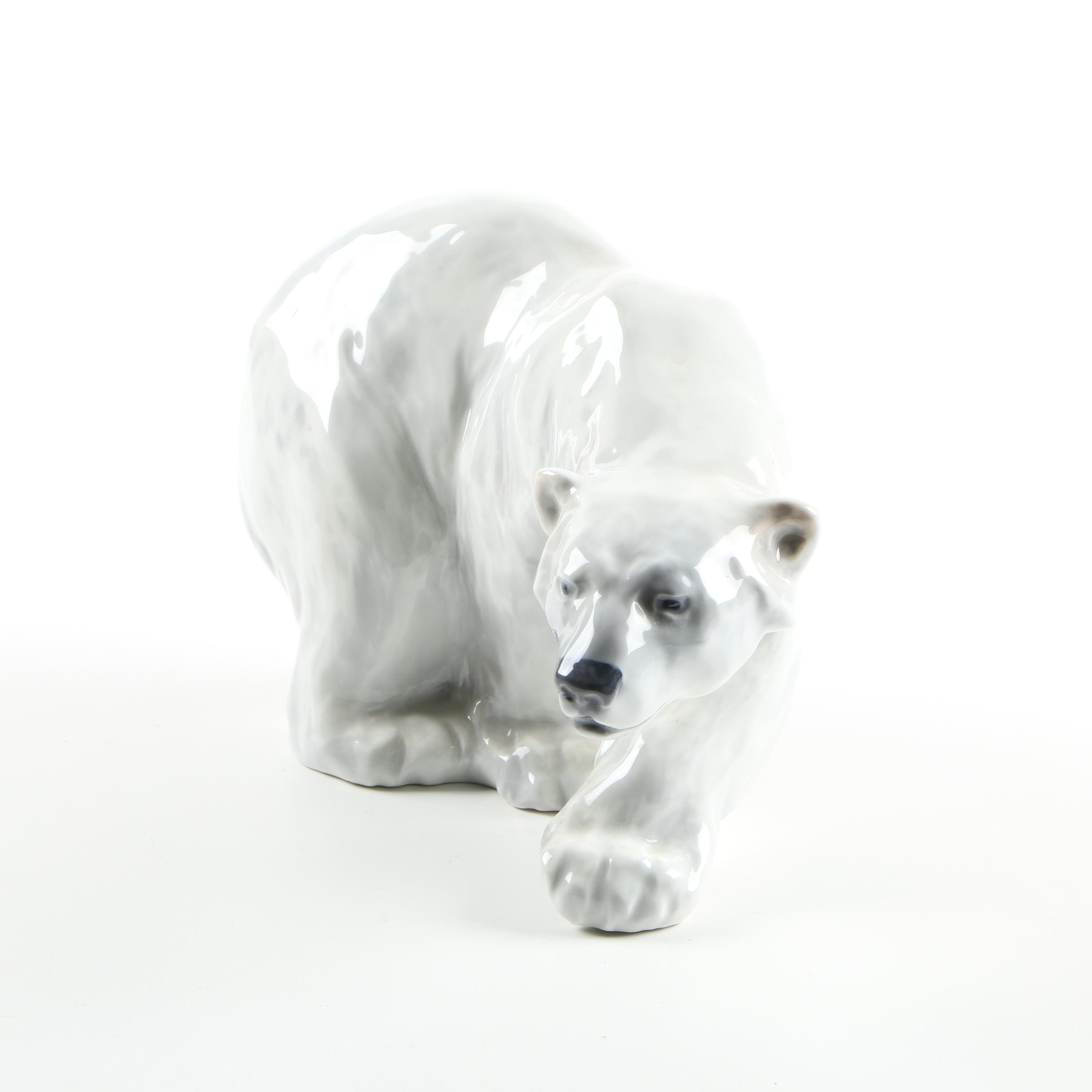 Royal Copenhagen Porcelain Polar Bear Figurine