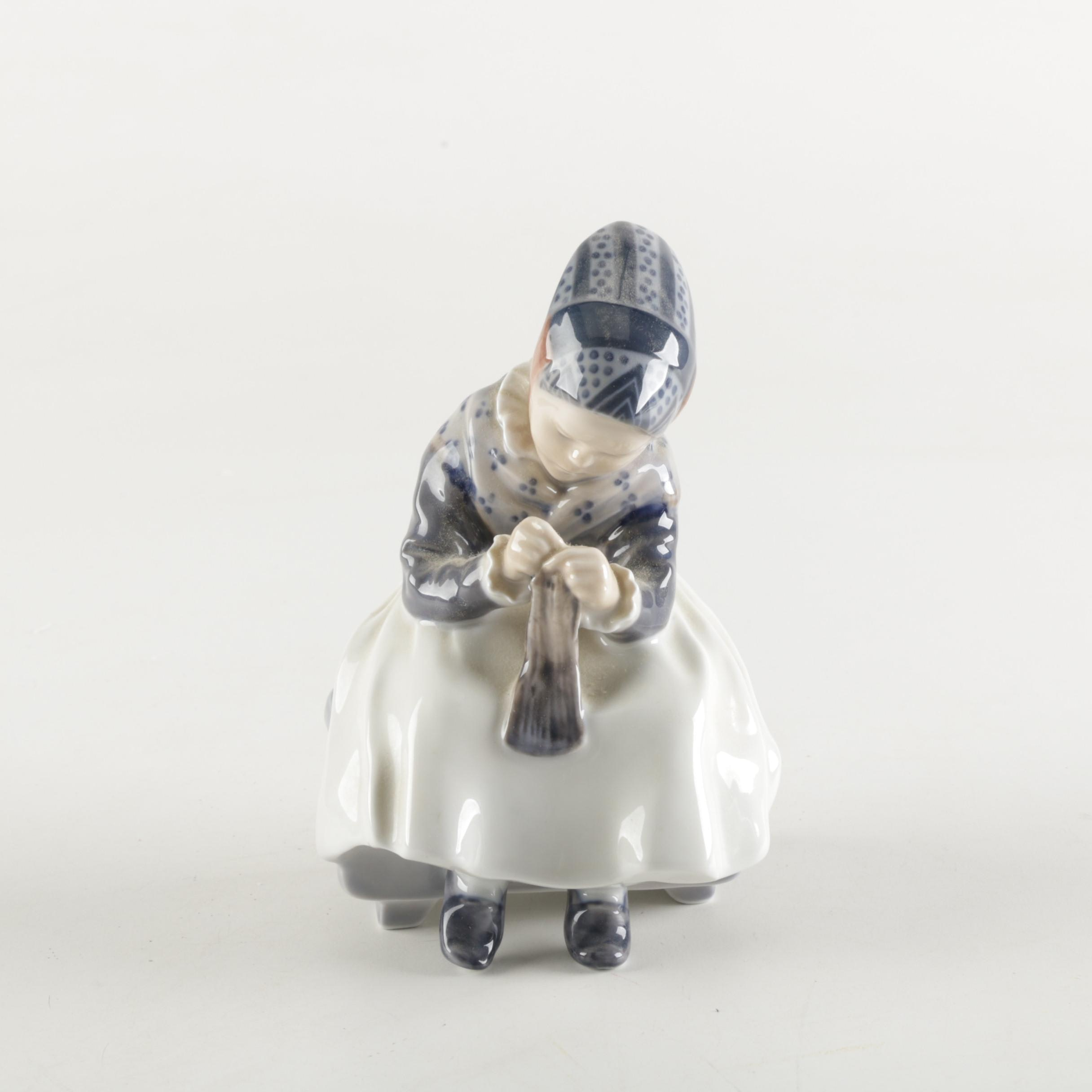 "Royal Copenhagen ""Amager Girl"" Figurine 1314"