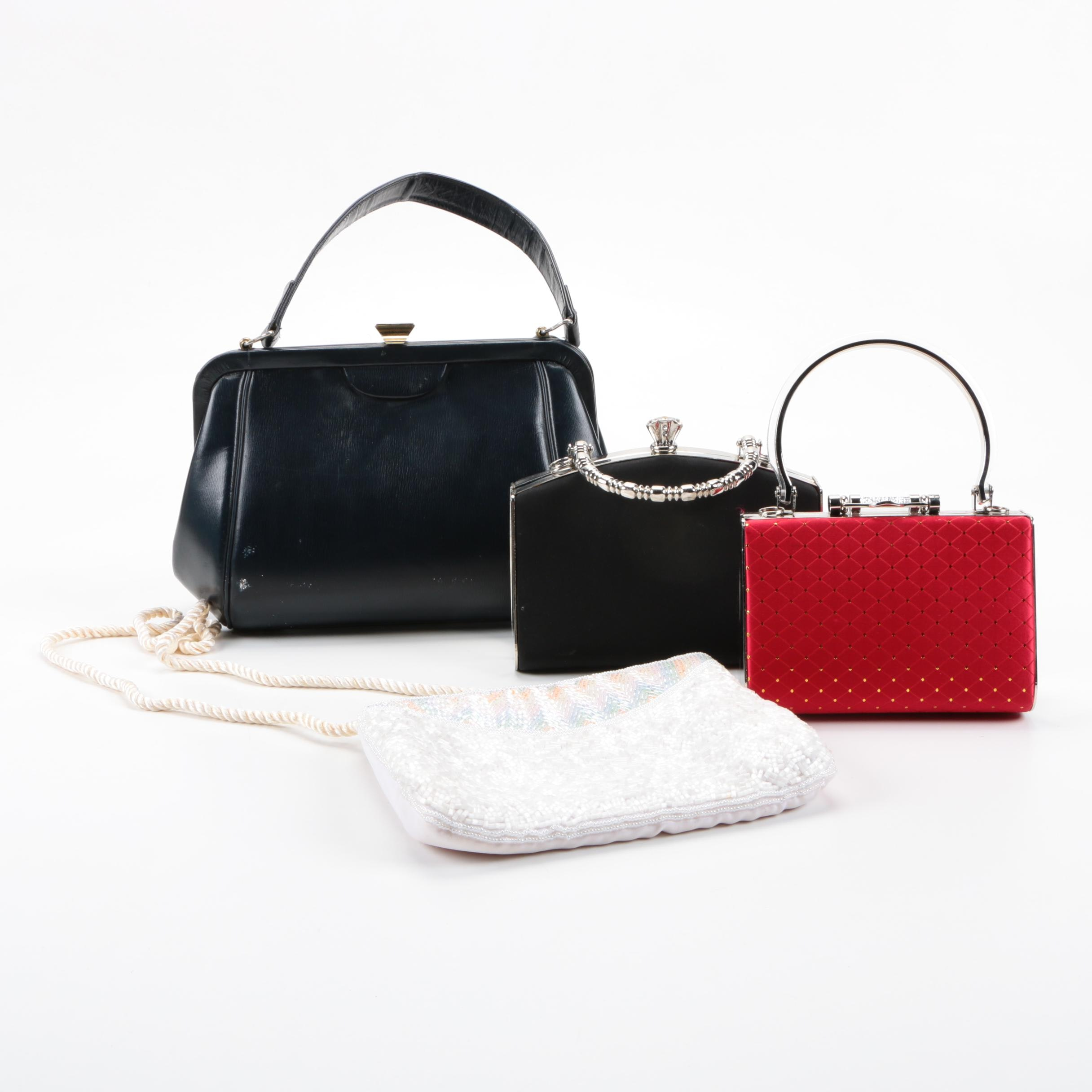 Frame and Fabric Evening Bags