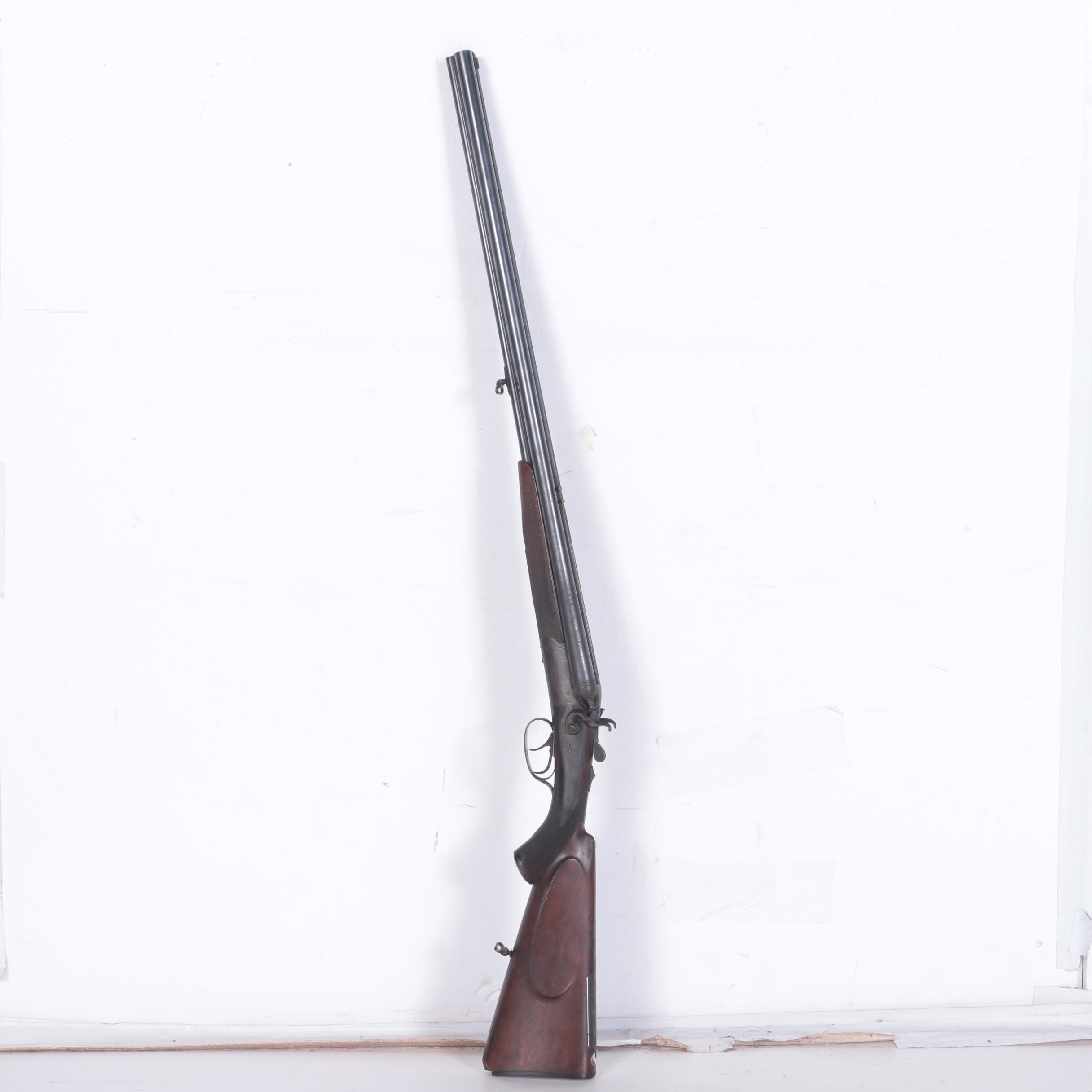 Antique Wilhelm Brenneke Double-Barrel Percussion Rifle