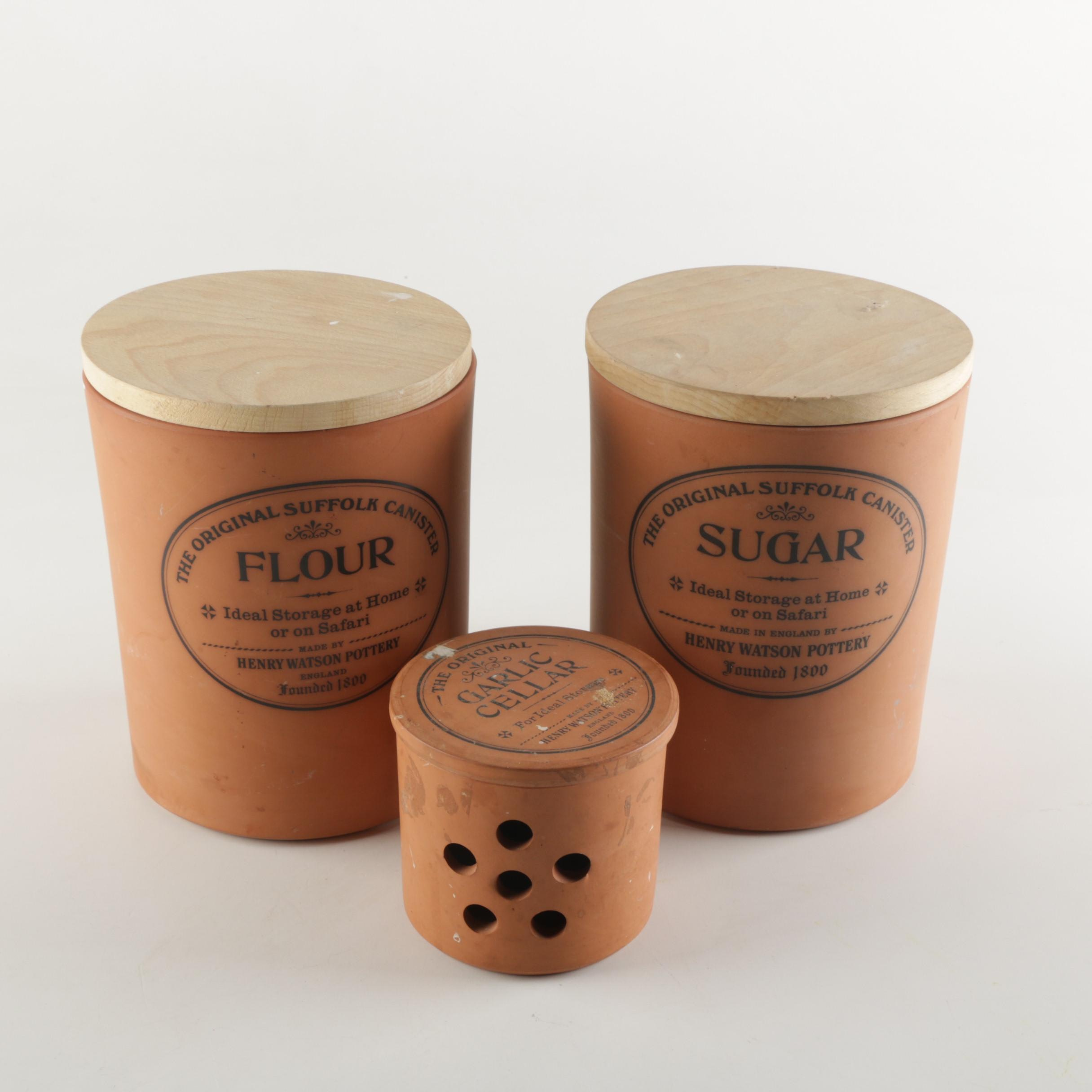 Terracotta Canisters from Henry Watson Pottery