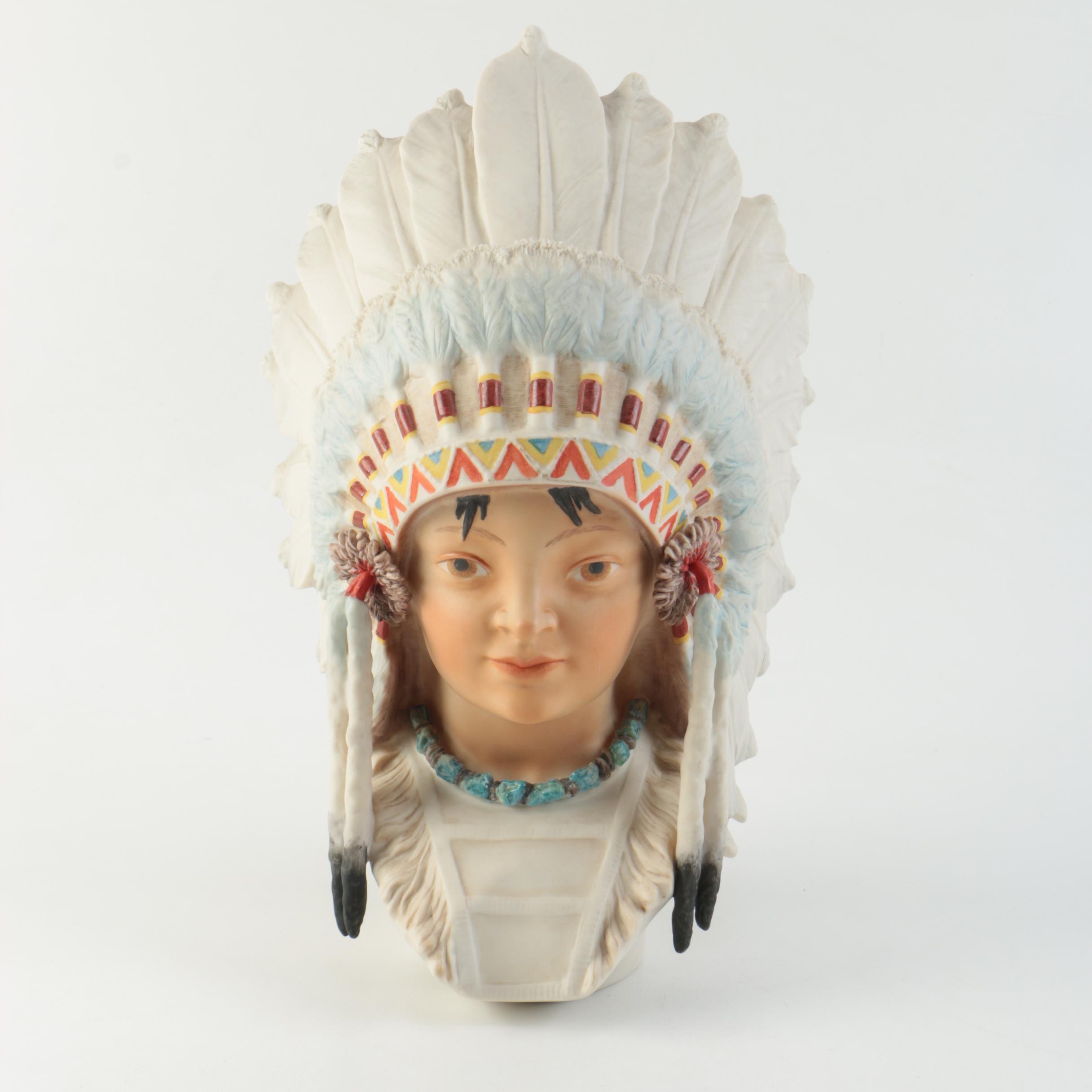 """Cybis """"Little Eagle"""" Porcelain Bust"""