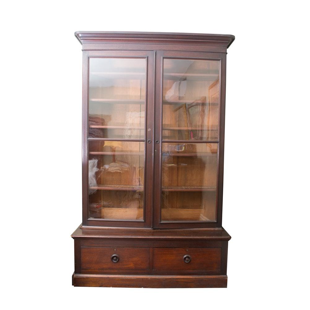 Antique American Walnut Bookcase