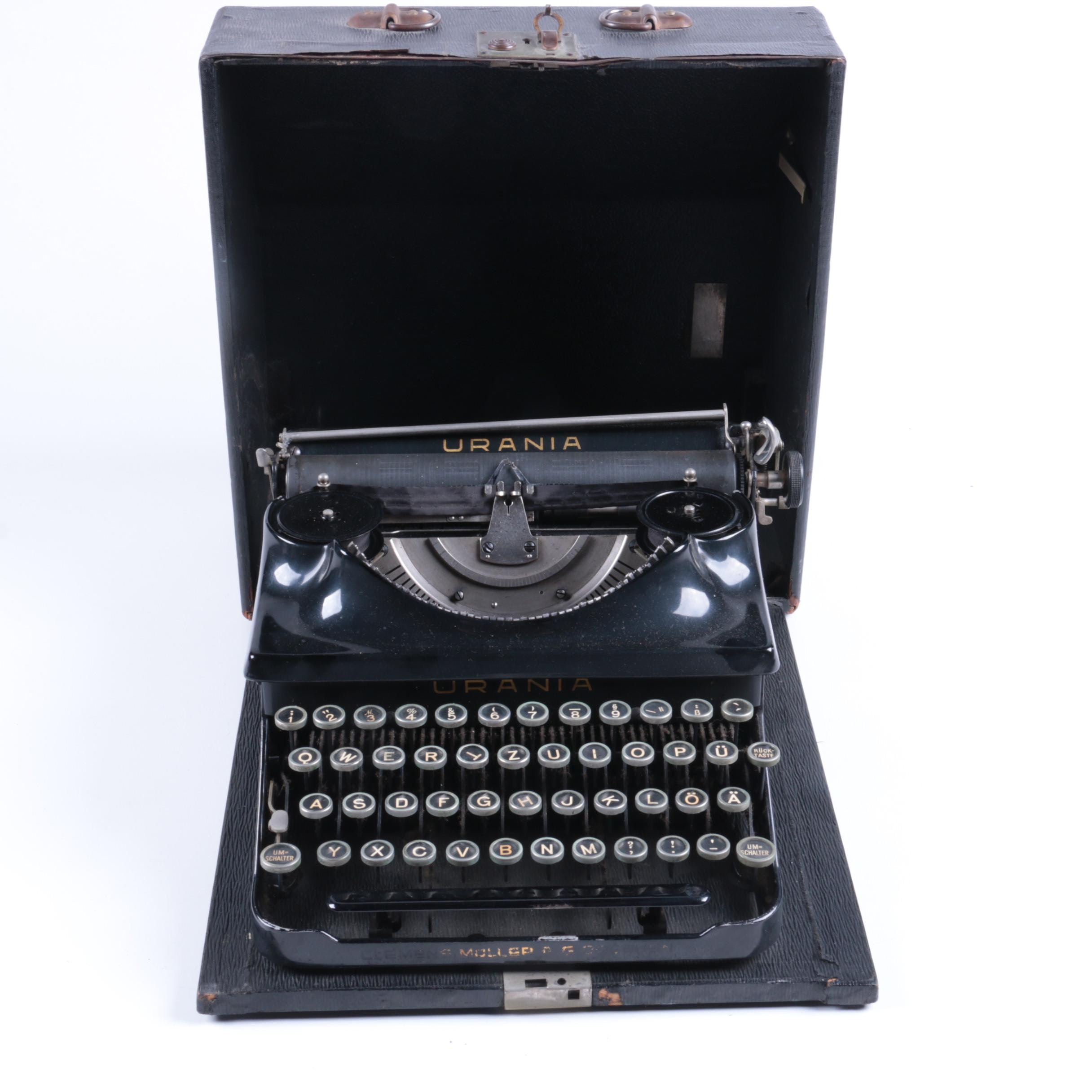 Urania German Typewriter