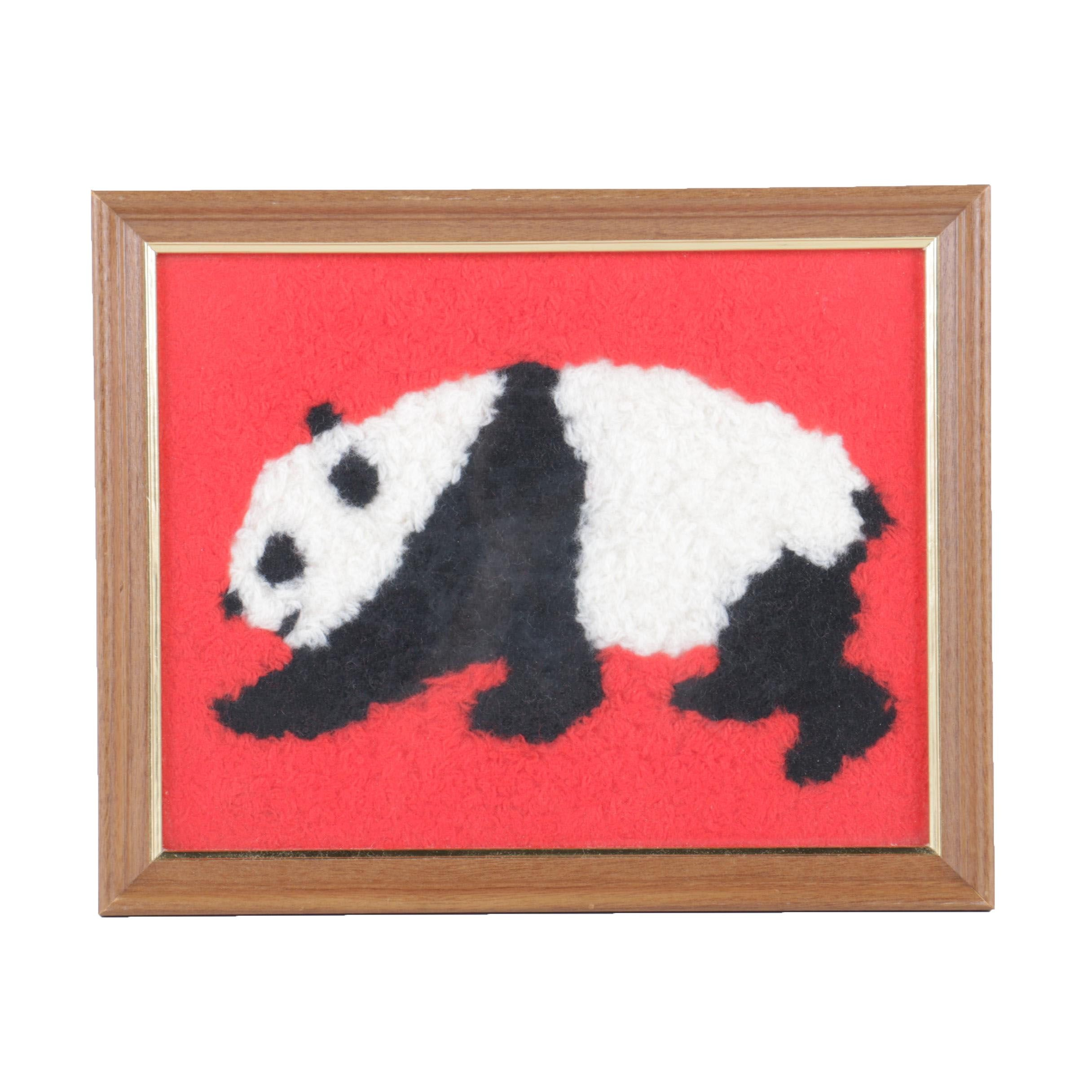 Pile Embroidery of a Panda