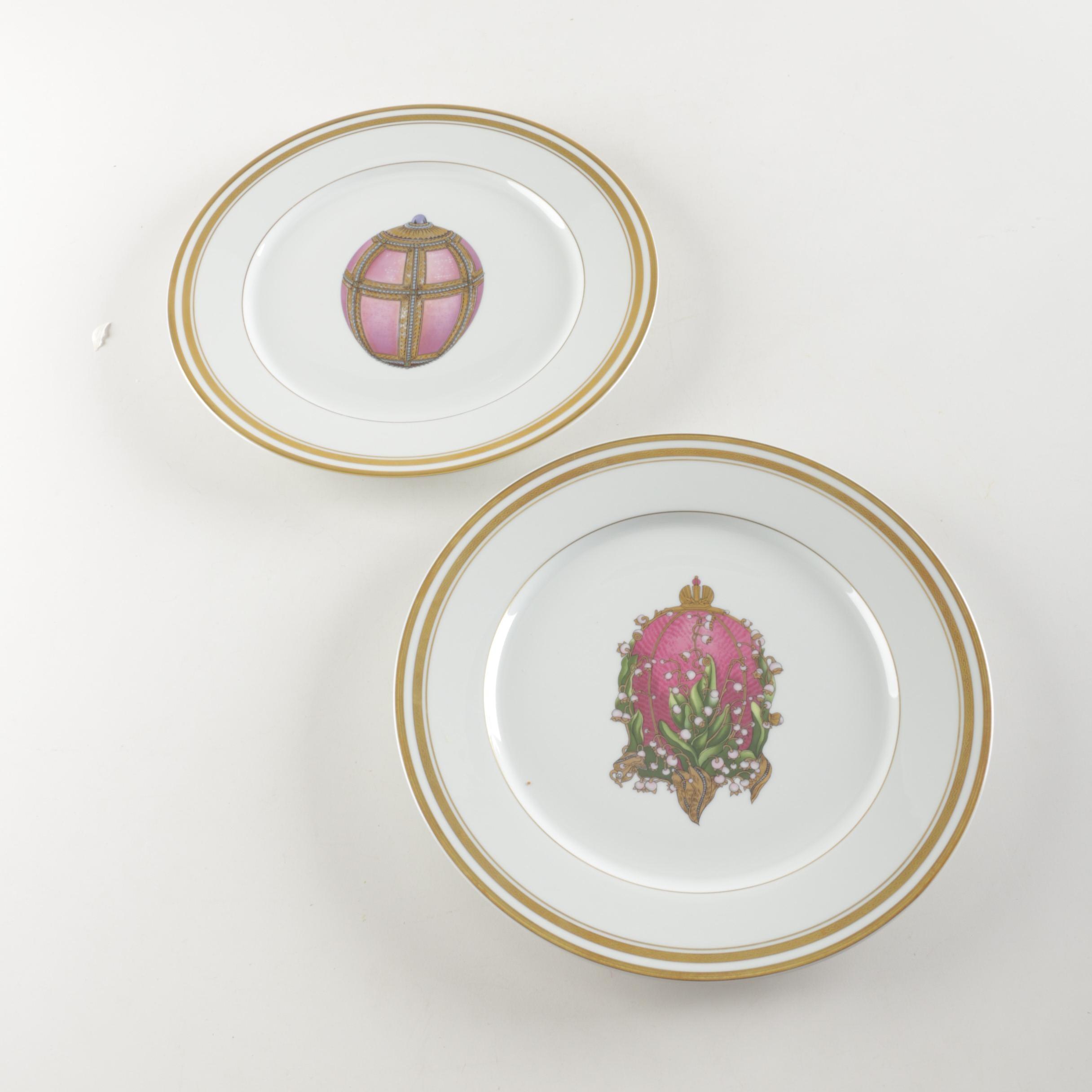 """Fabergé """"Imperial Egg Collection"""" Porcelain Plates"""