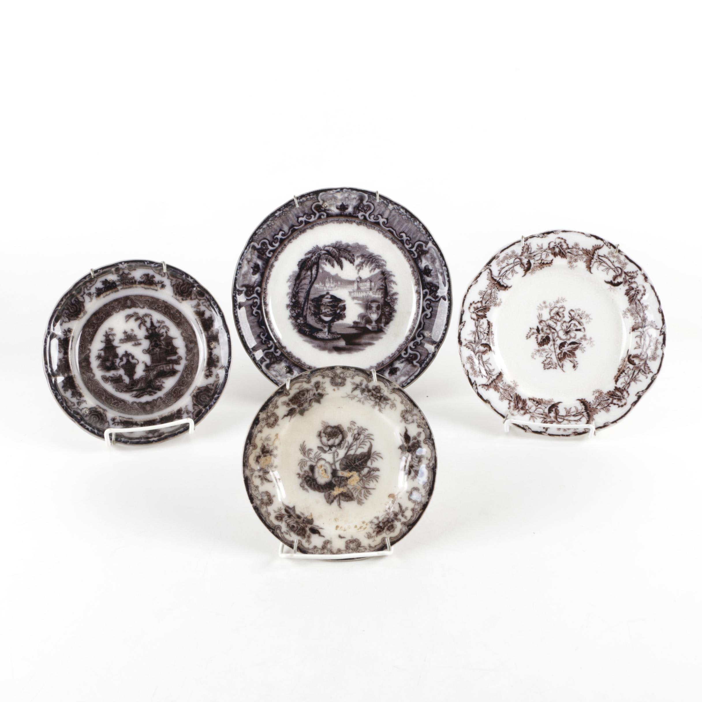 Antique and Vintage Black and White Plates