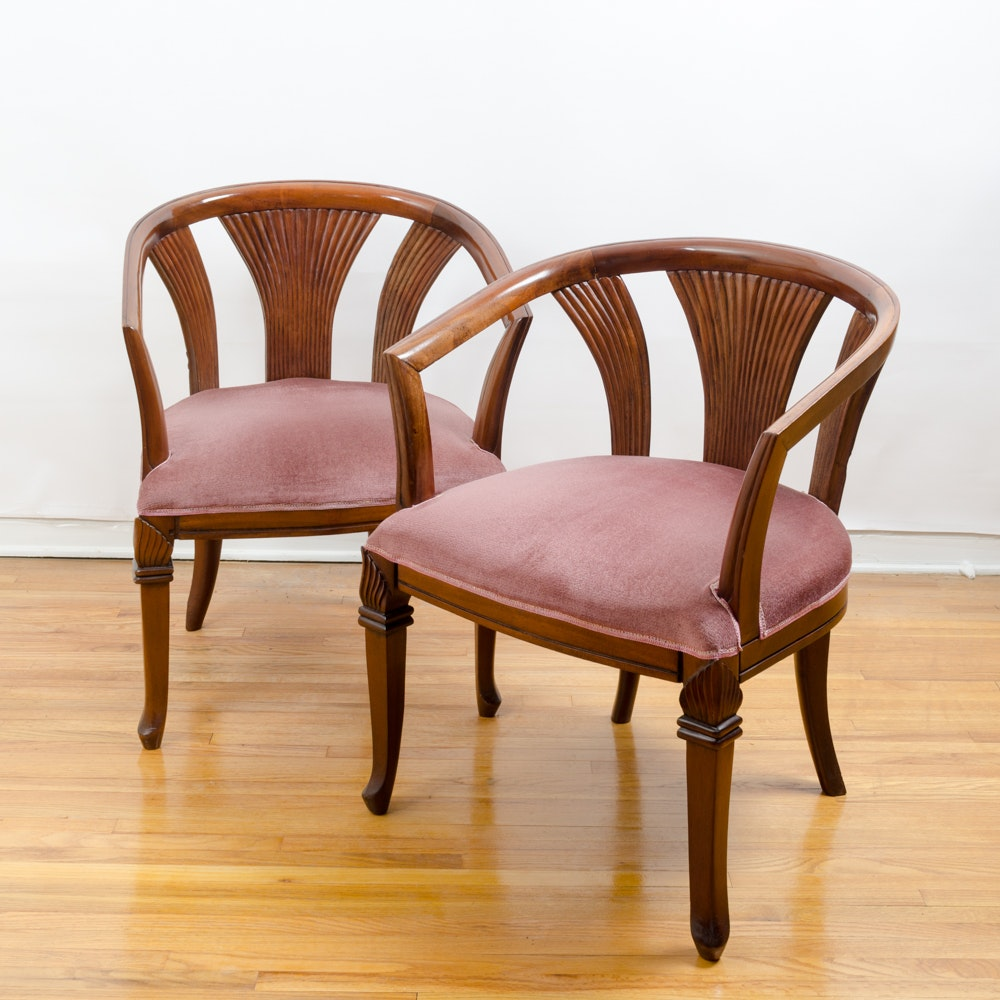 Deco Revival Club Chair Pair