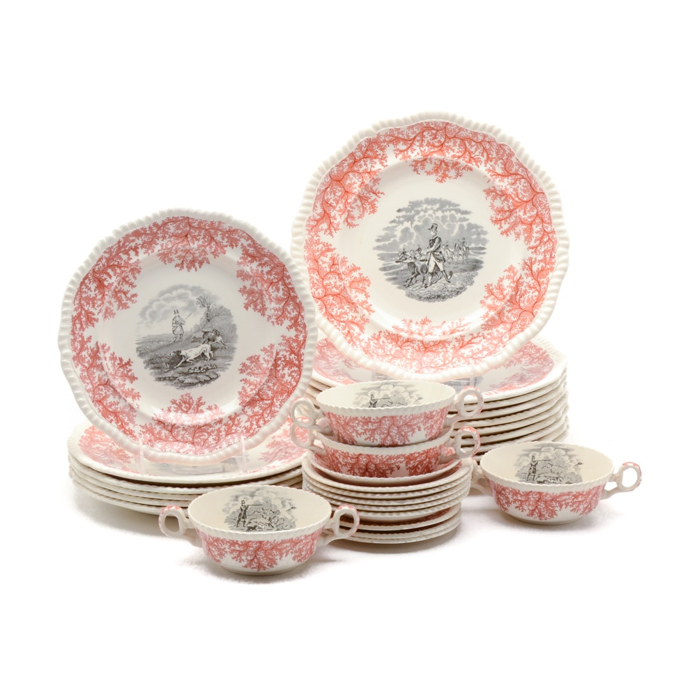 Red and Black Transferware by Spode