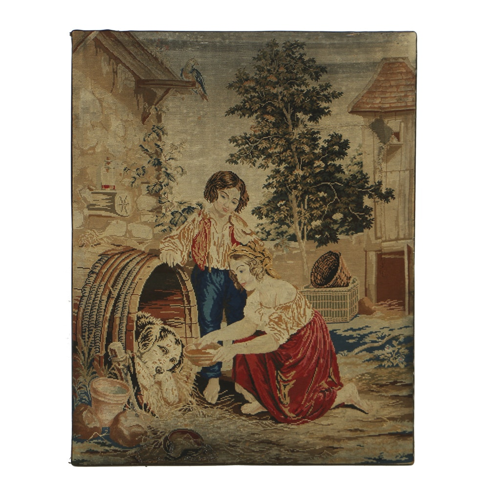 Victorian Wool Work Tapestry