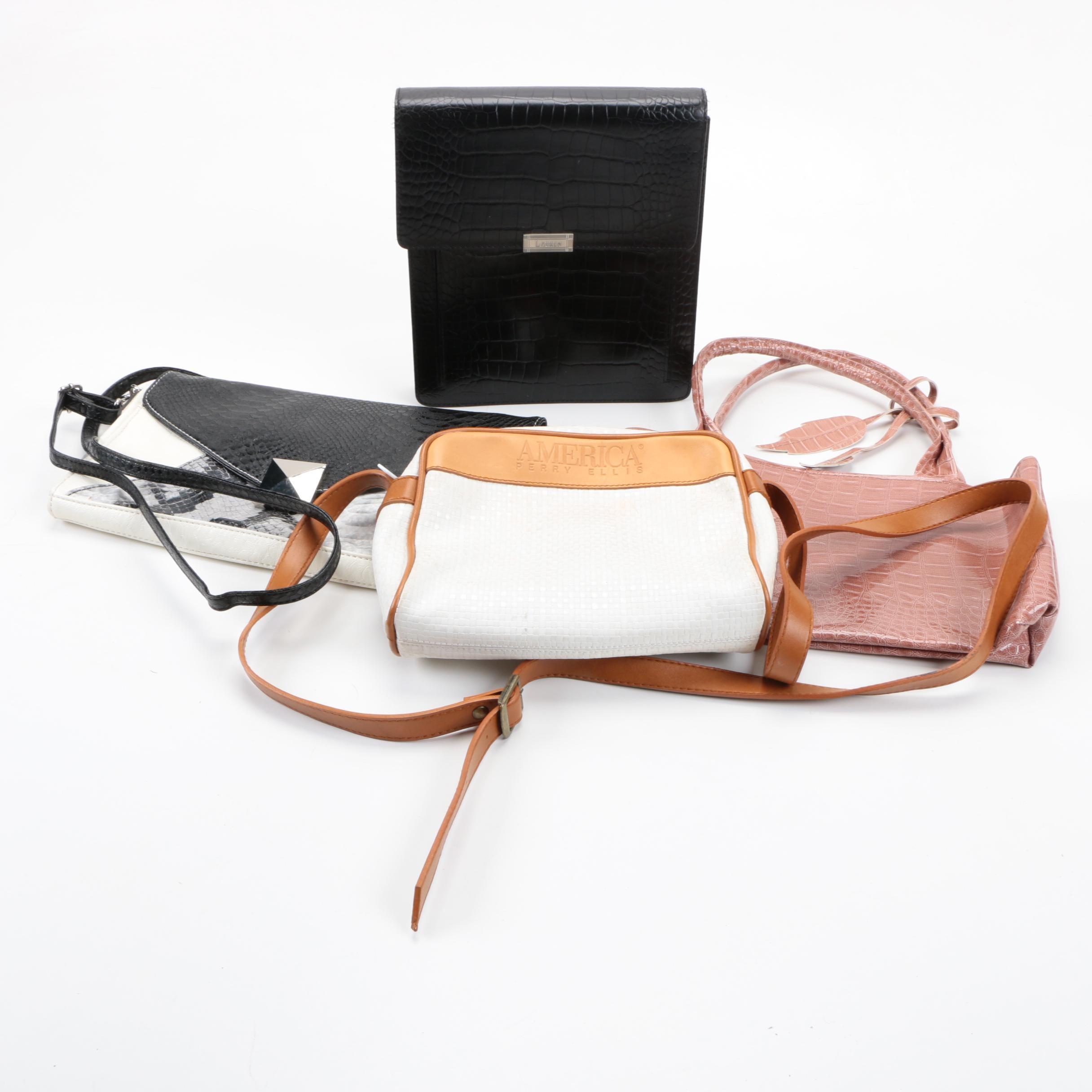 Leather Handbags Including Lauren Ralph Lauren