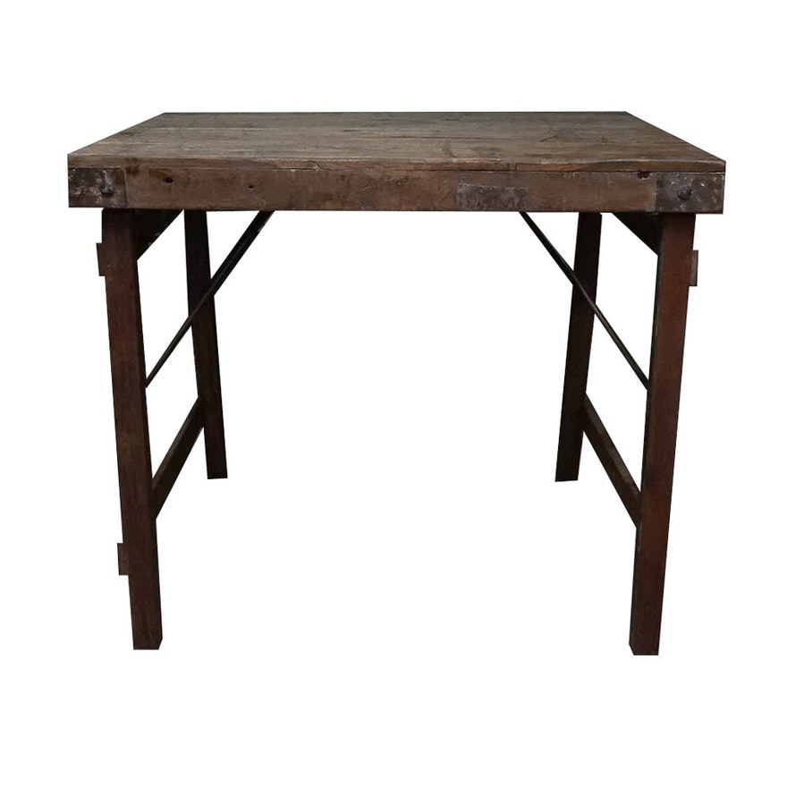 Reclaimed Wood Work Table EBTH - Reclaimed wood work table