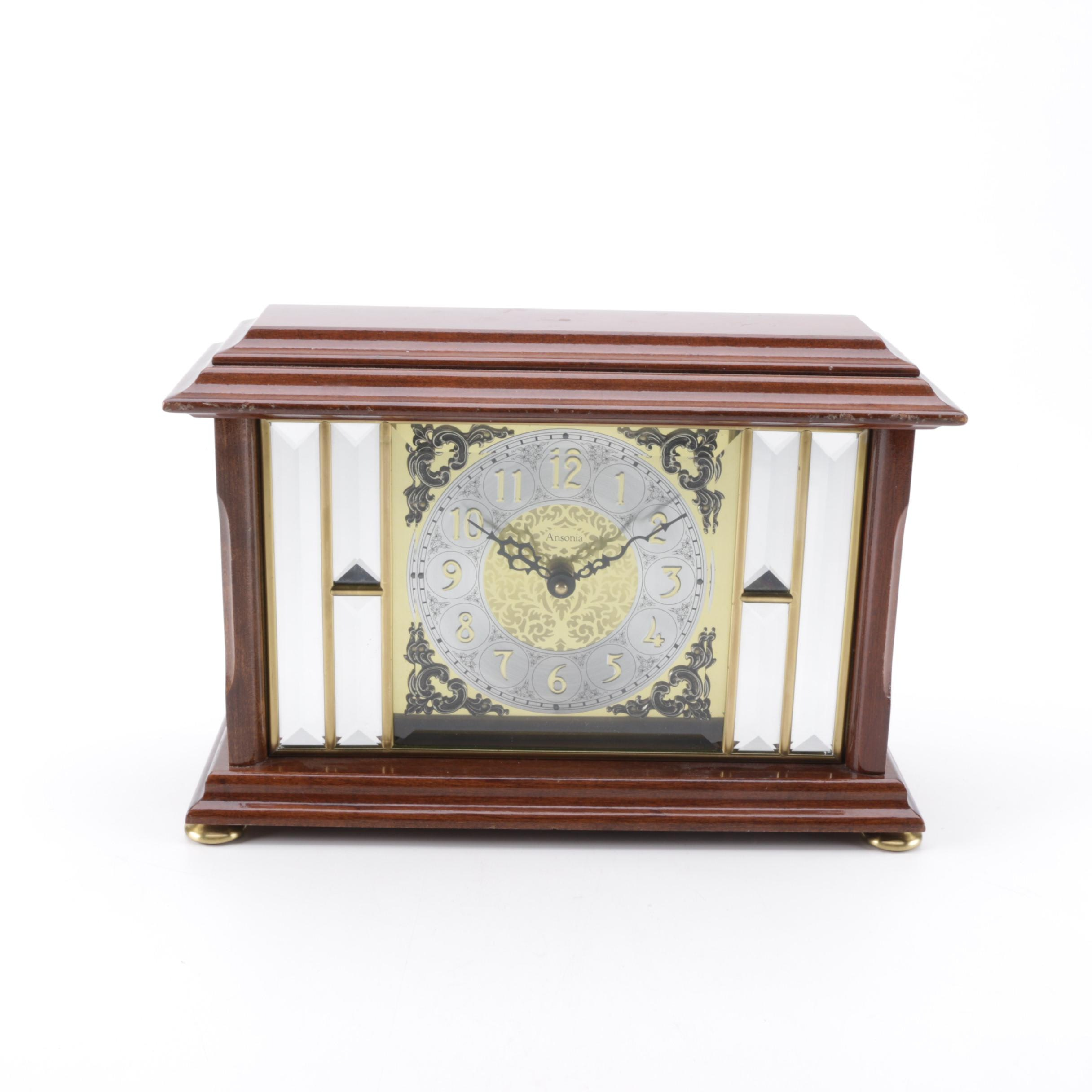"Ansonia ""Gold Medallion Clock"" Mantel Clock"