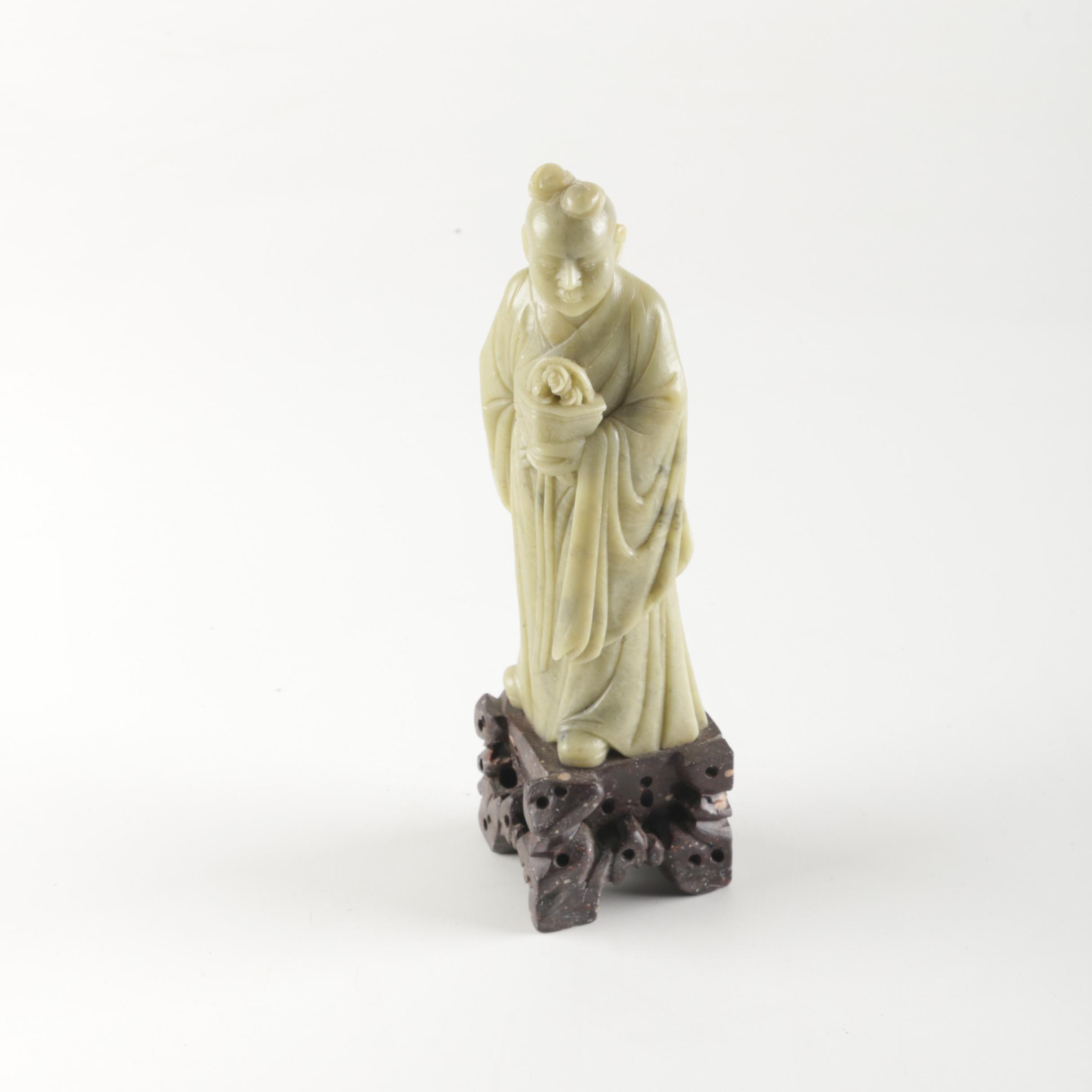 Chinese Carved Soapstone Figurine