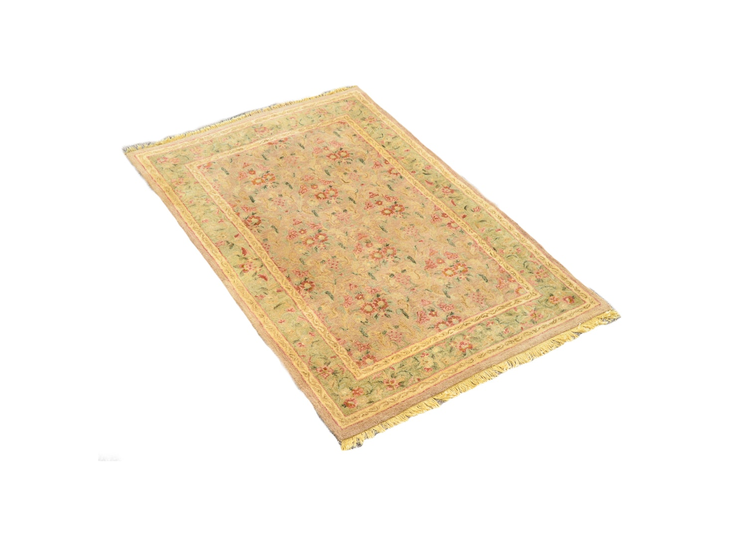 Hand Tufted Indian Floral Wool Area Rug
