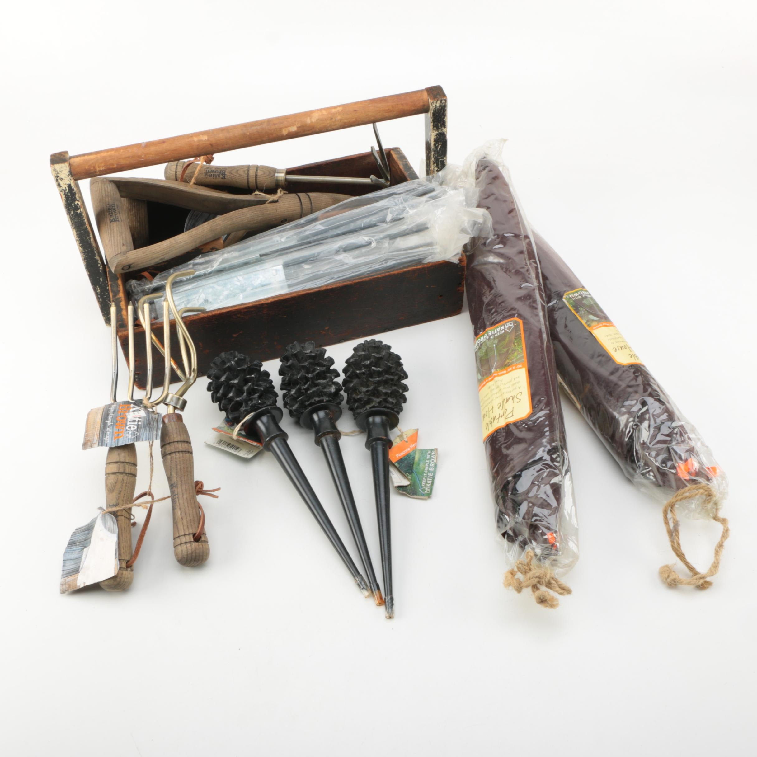 Collection of Katie Brown Brand Patio and Gardening Items