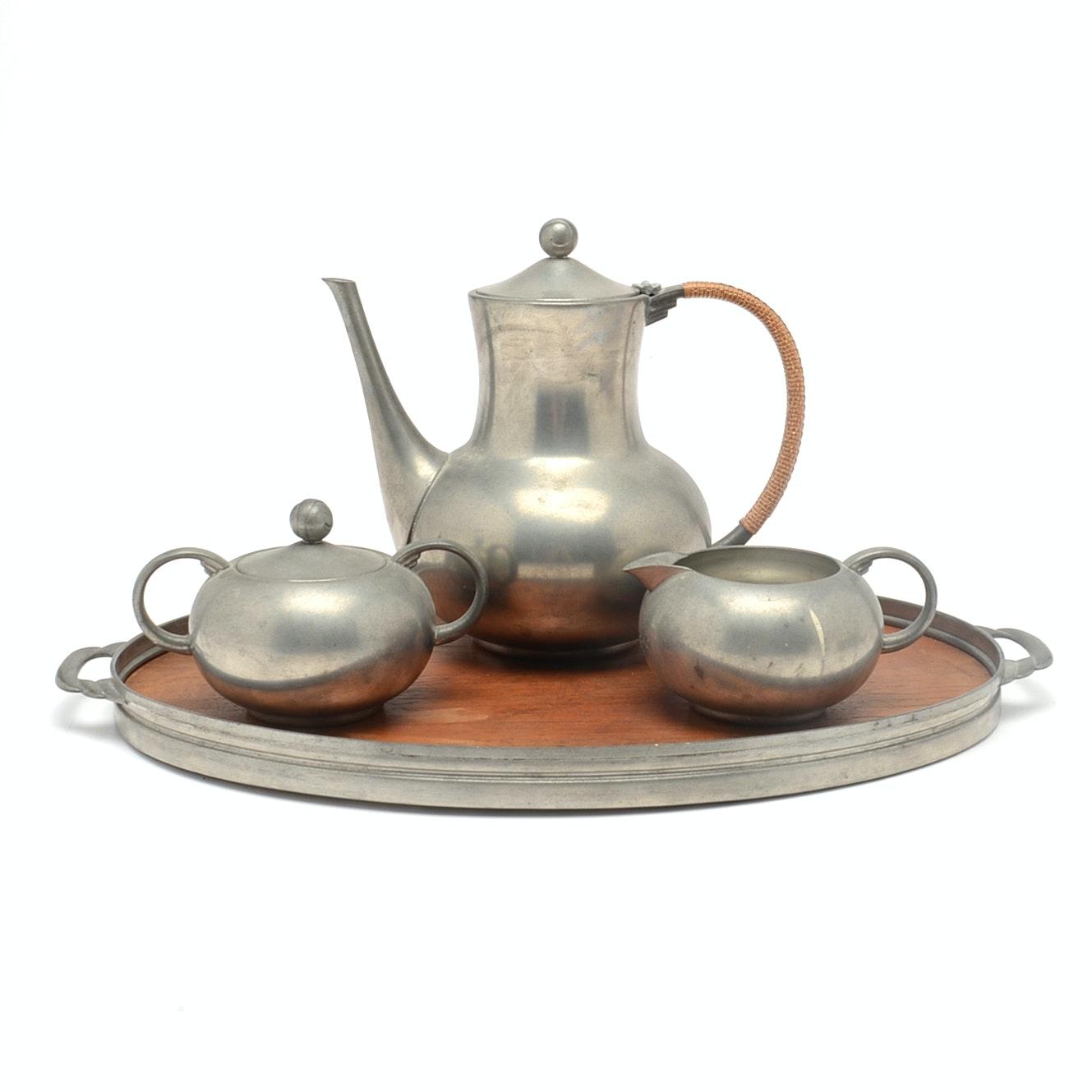 Vintage Royal Holland Pewter Tea Set