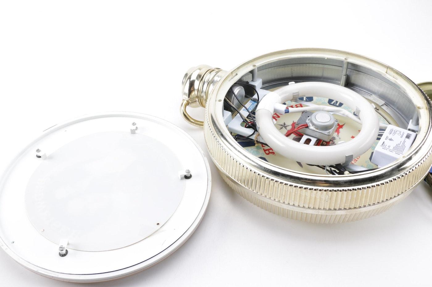 Budweiser Pocket Watch Style Suspended Clock Ebth