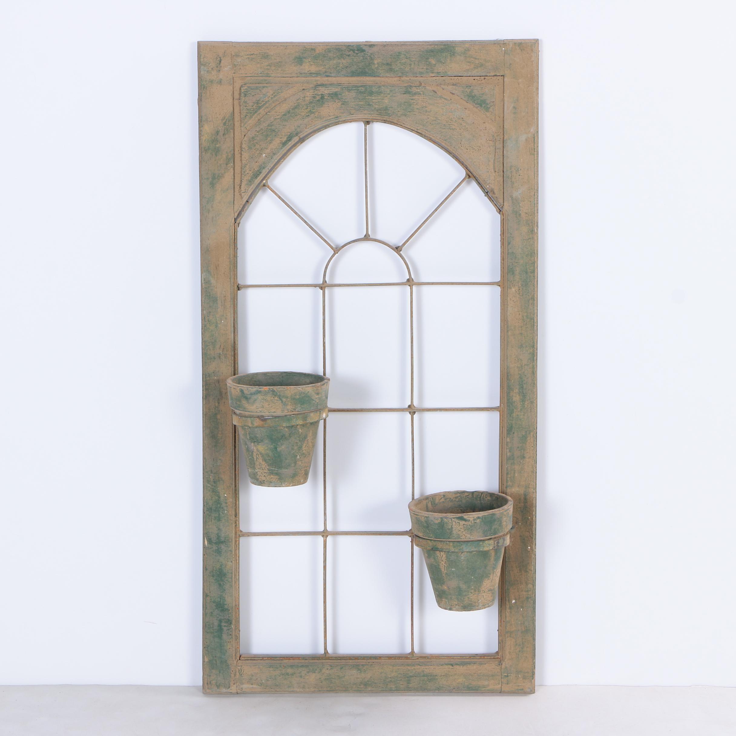 Rustic Window Wall Hanging Planter