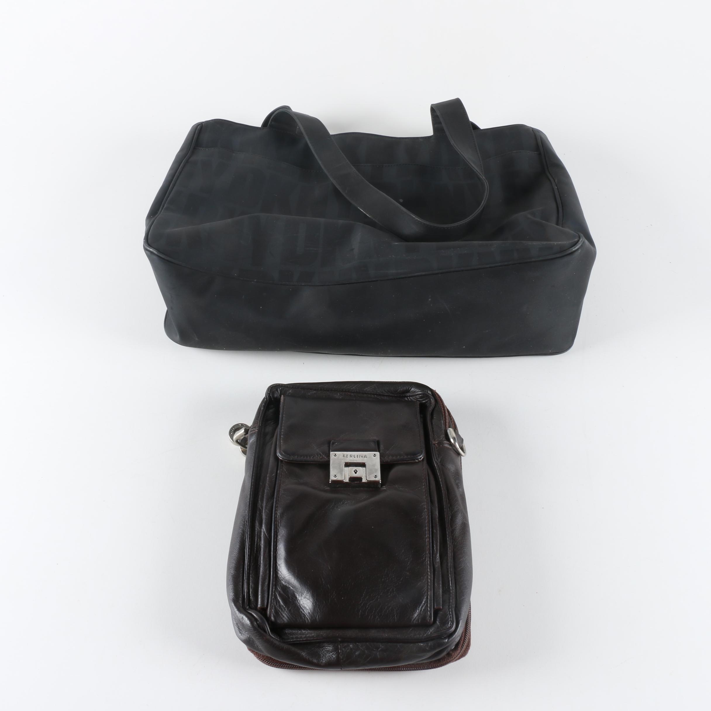 DKNY Handbag and Perlina Leather Crossbody Organizer