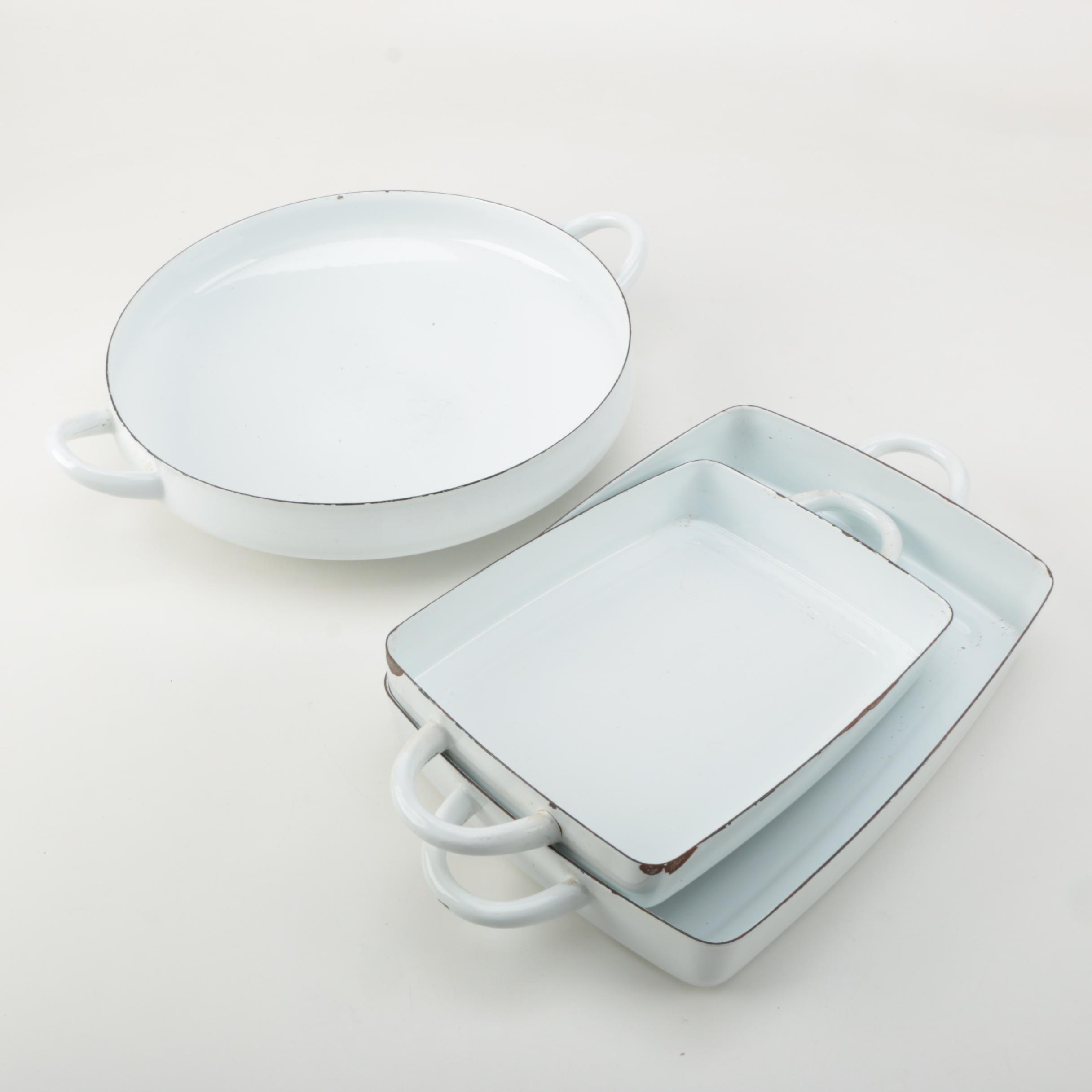 Dansk White Enameled Cast Iron Cookware