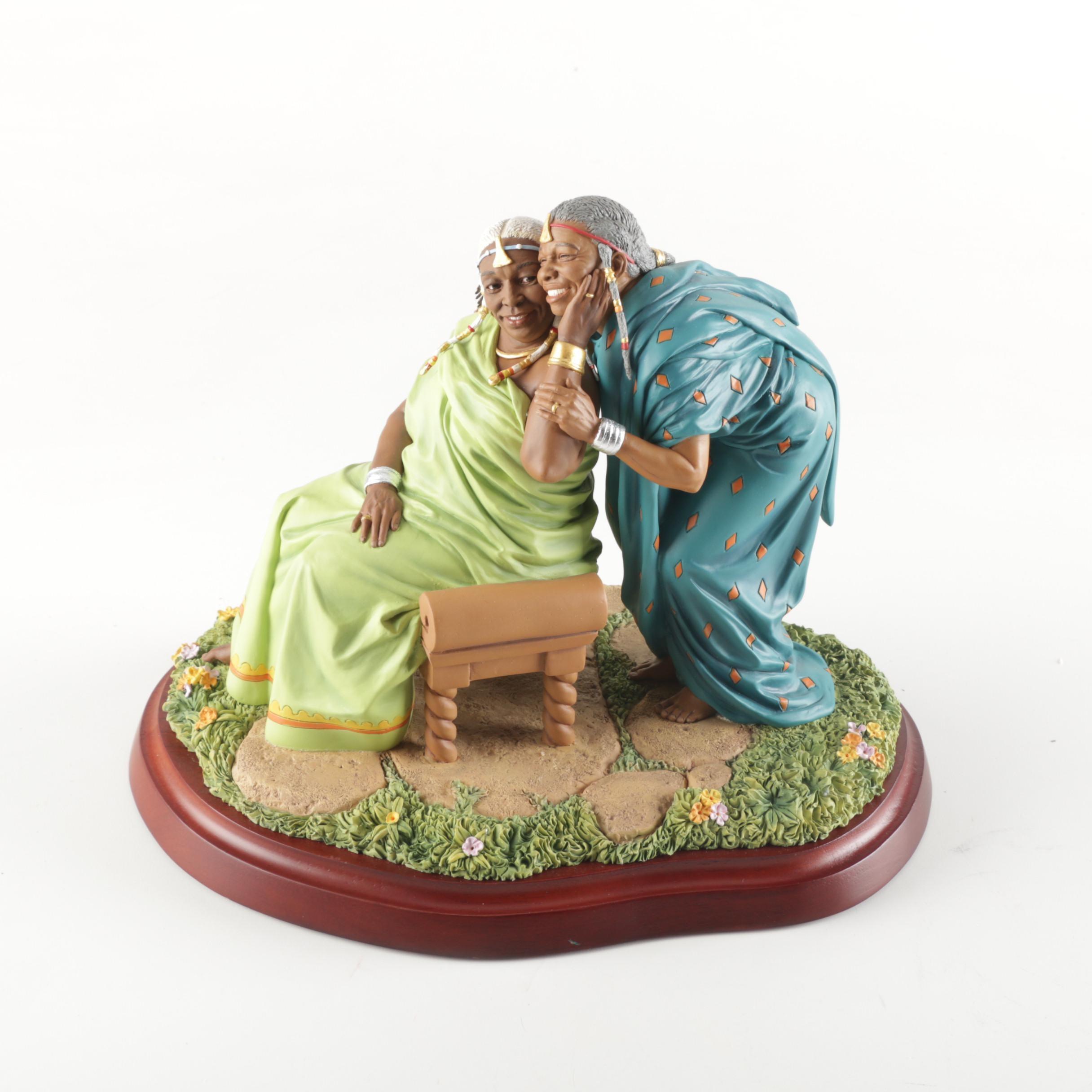 """""""Sisters Forever: In Elder Years"""" Thomas Blackshear's """"Ebony Visions"""" Figurine"""