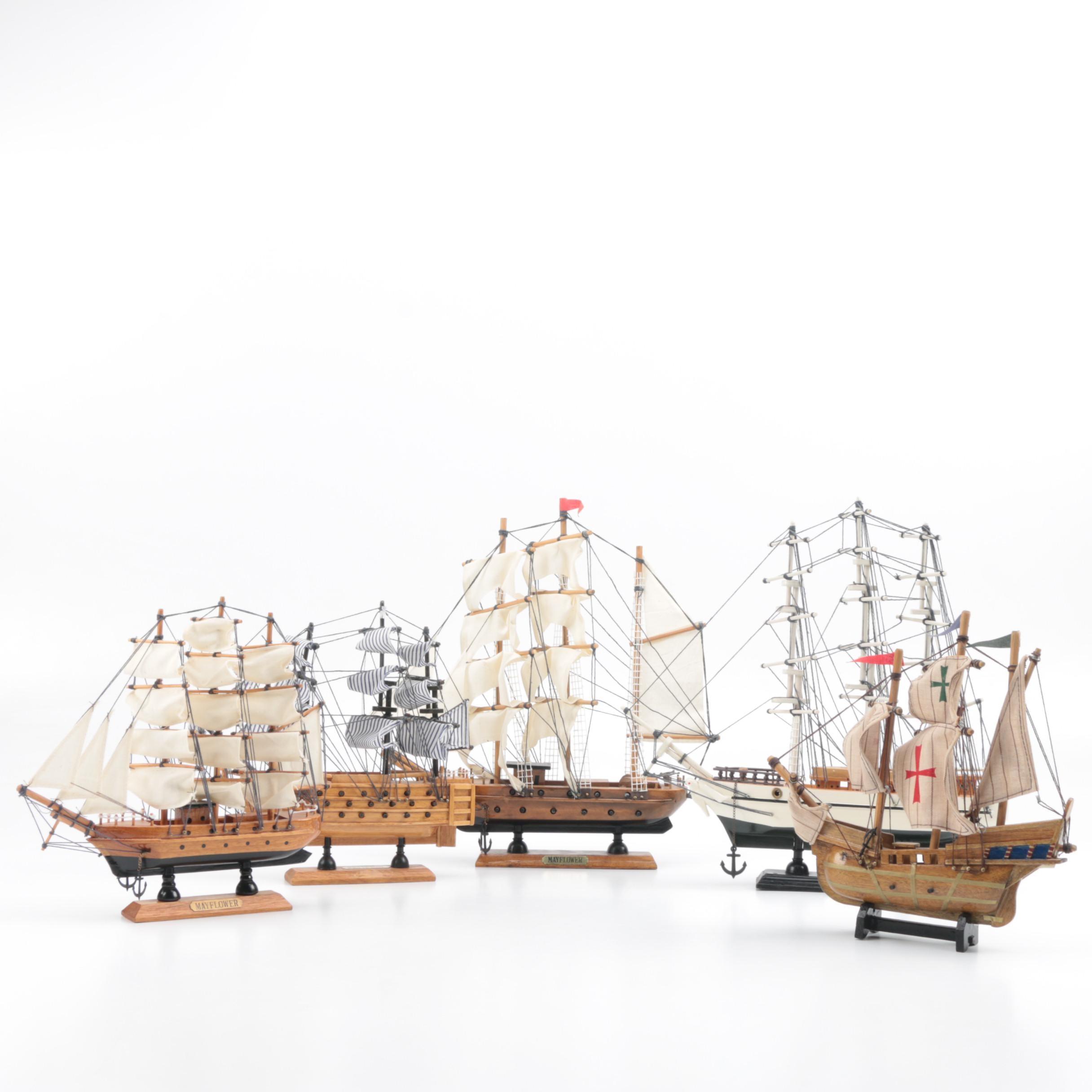Model Wooden Sailing Ships