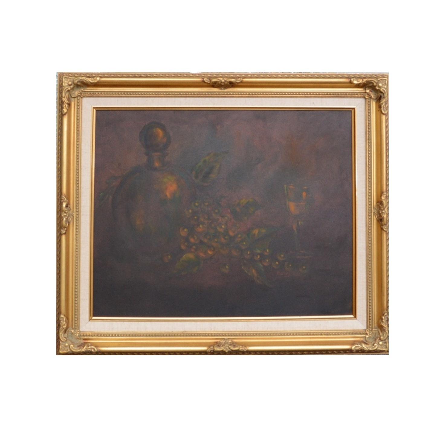 Oil on Canvas Still Life, Signed Boley