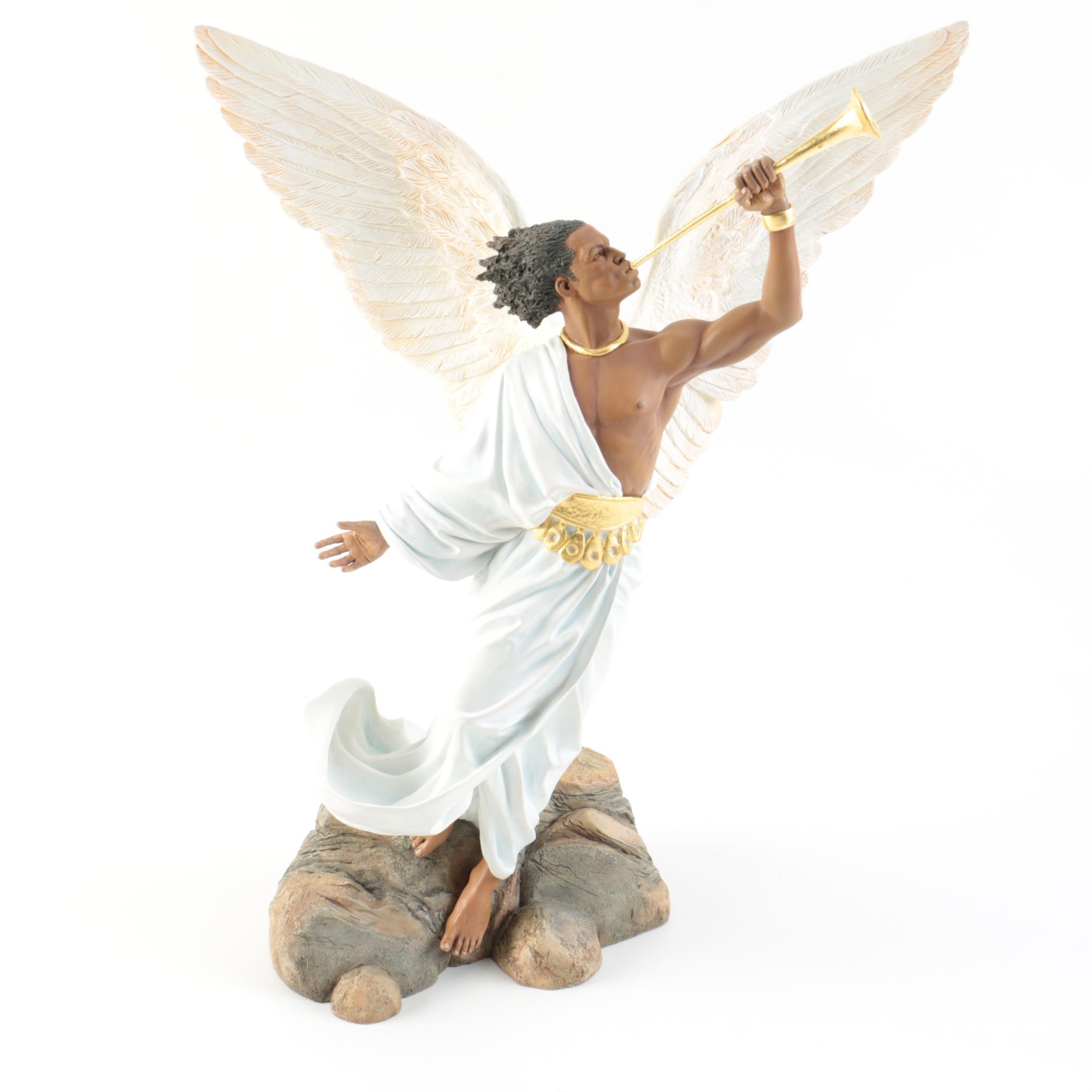 "Limited Edition ""The Angel Gabriel"" Thomas Blackshear's ""The Nativity"" Figurine"