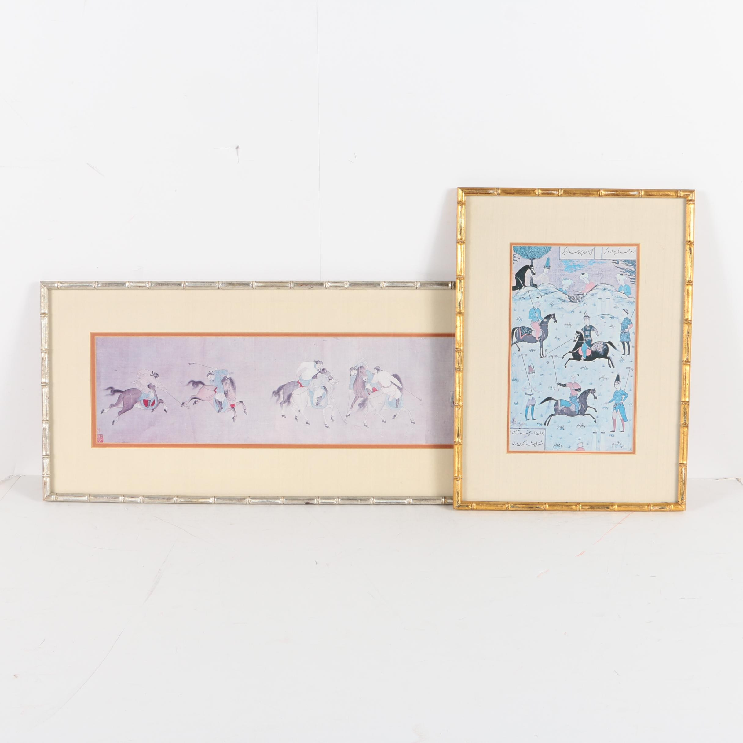 East Asian and Indo-Persian Reproduction Prints of Polo Matches