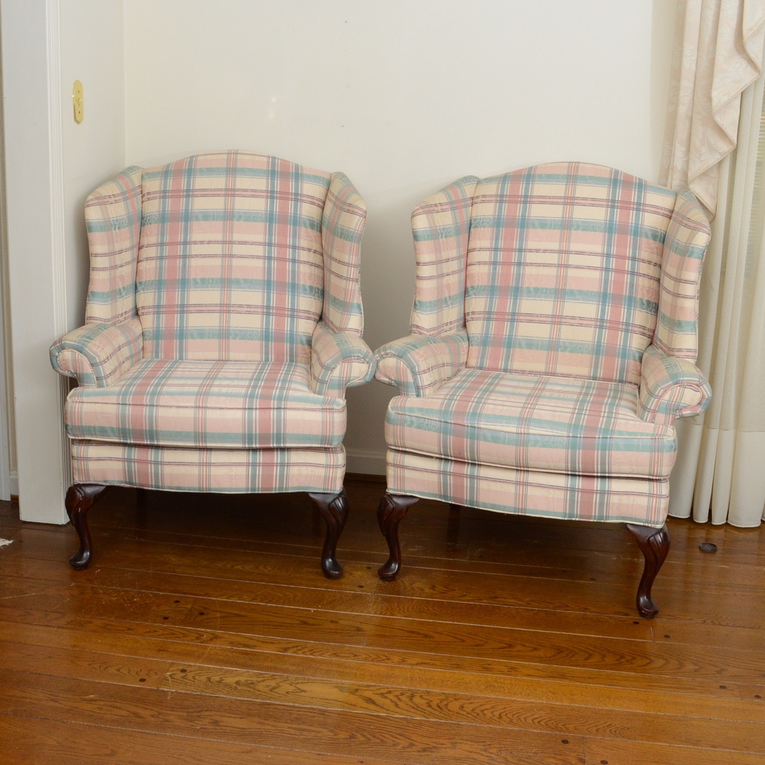 Pair of Wing Back Occasional Chairs