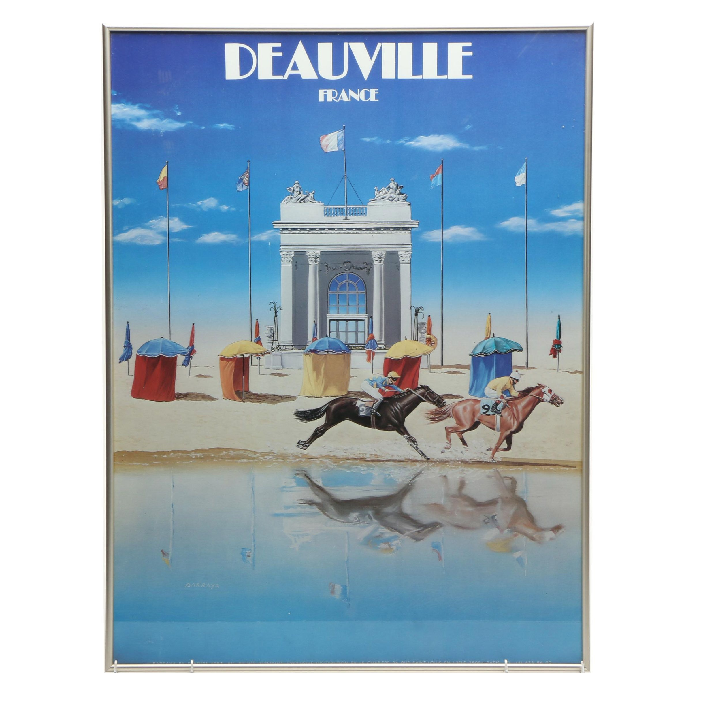 Deauville, France, Horse Racing Themed Advertising Poster