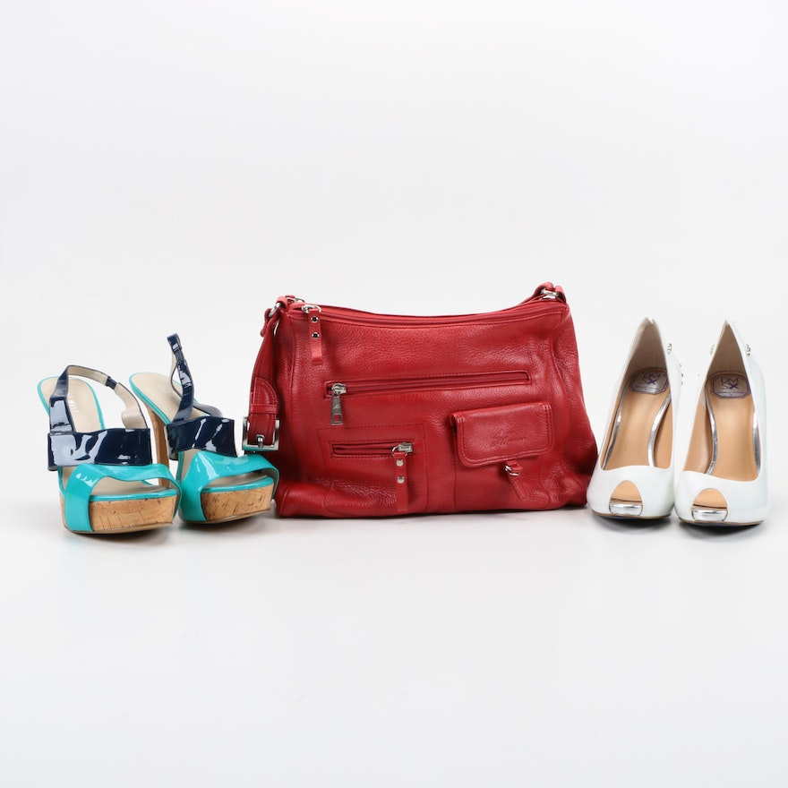 High Heels With Stone Mountain Handbag