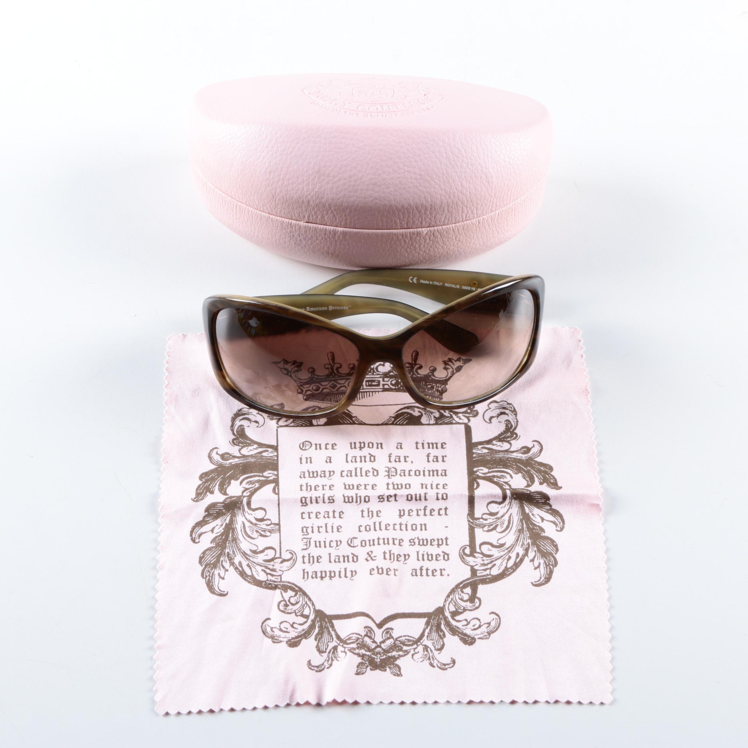 "Juicy Couture ""Juicy American Princess"" Sunglasses with Case"