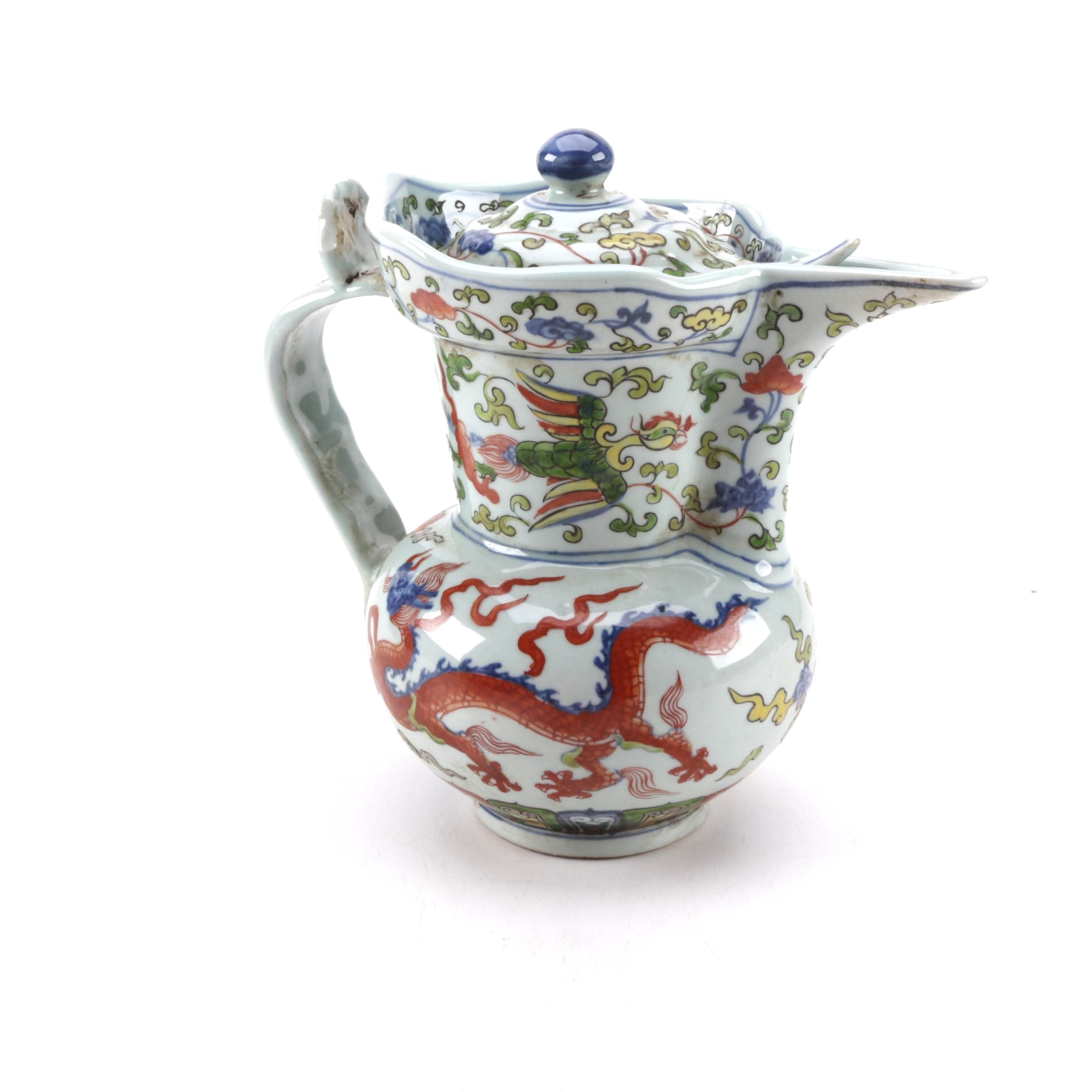 Chinese Porcelain Polychrome Teapot