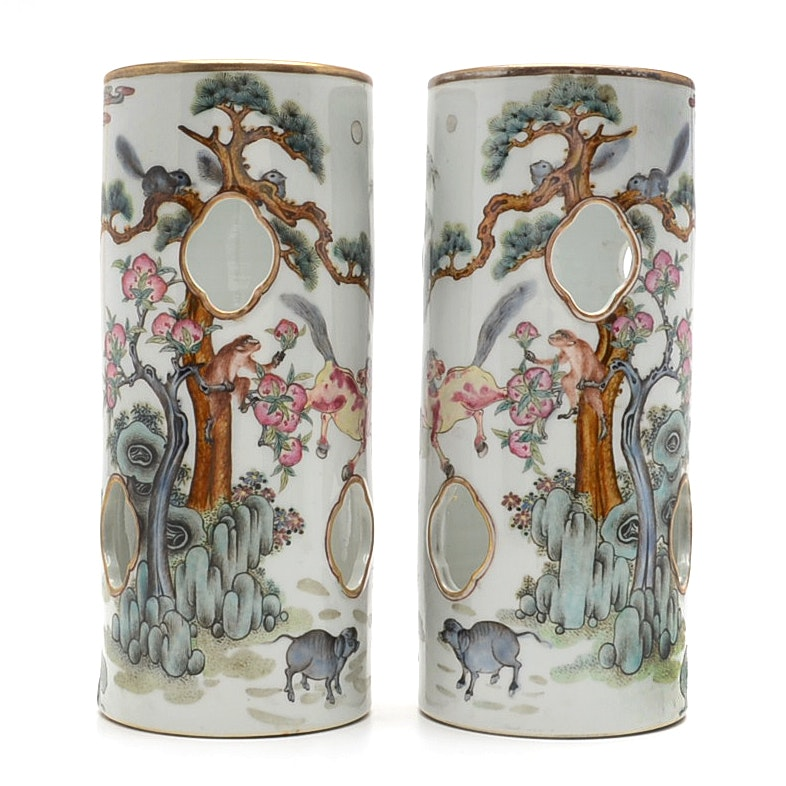 Guangxu Mark Porcelain Hat Stands Purchased During Boxer Rebellion