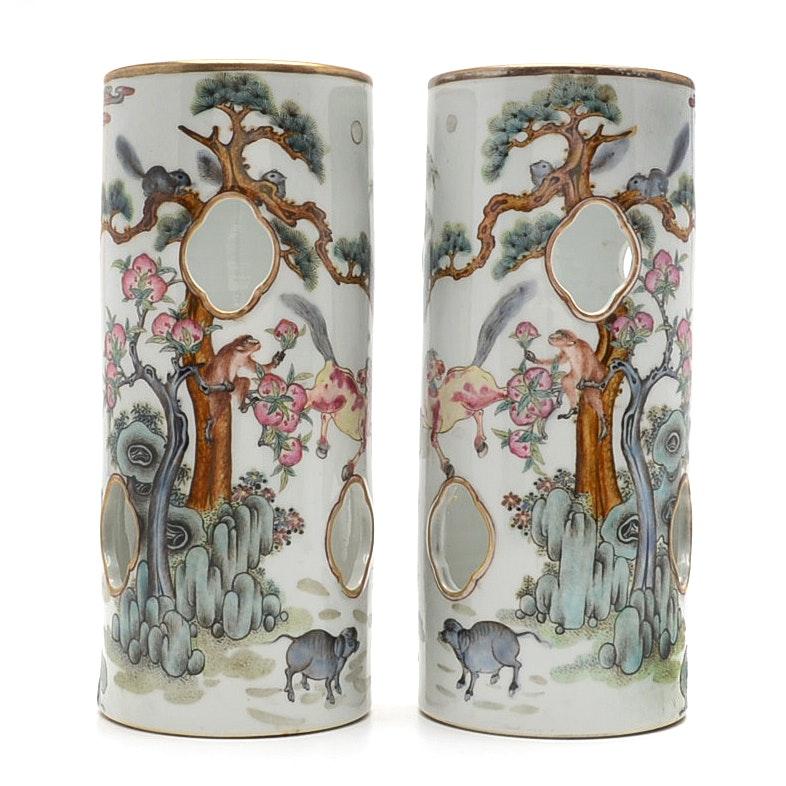 Guangxu Marked Porcelain Hat Stands