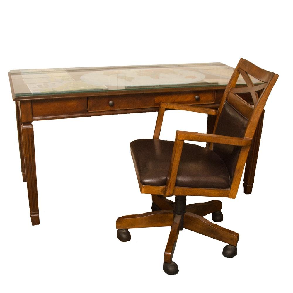 """""""Hamlyn"""" Desk with Rolling Chair by Ashley Furniture"""