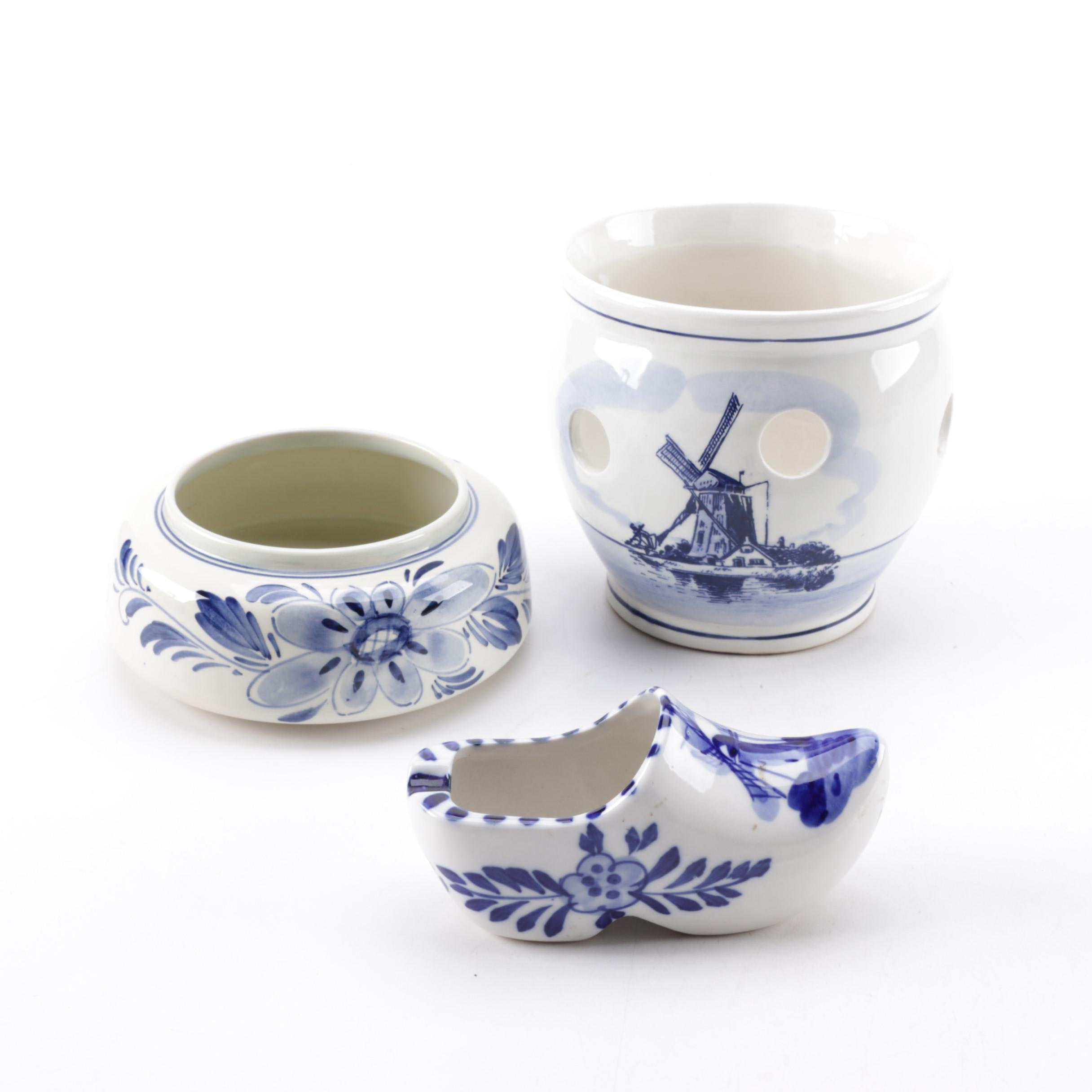 Delft Blue and White Porcelain Assortment