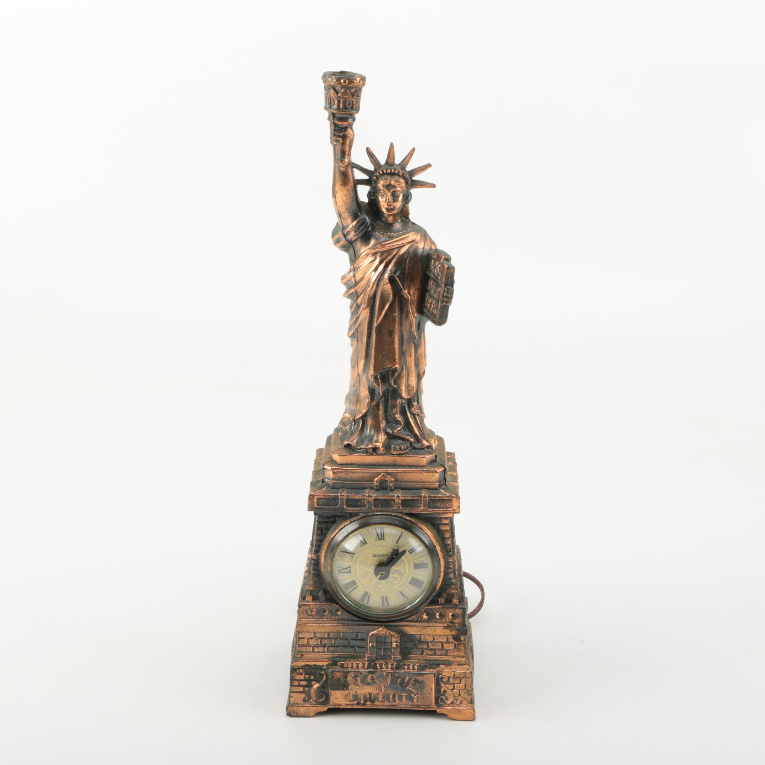 Statue of Liberty Replica Accent Light and Clock