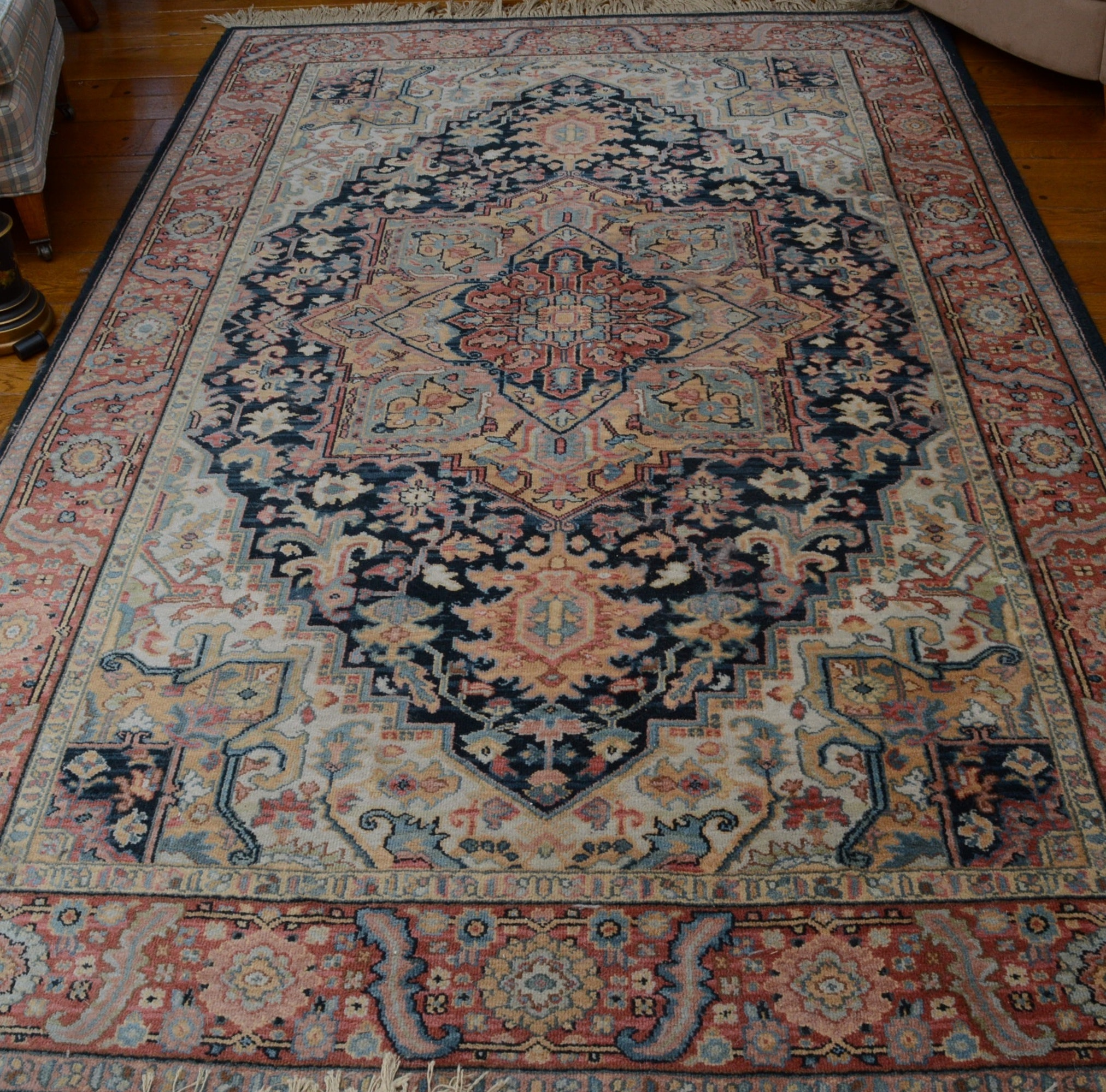 "Machine Made Karastan ""Navy Heriz"" Wool Area Rug"