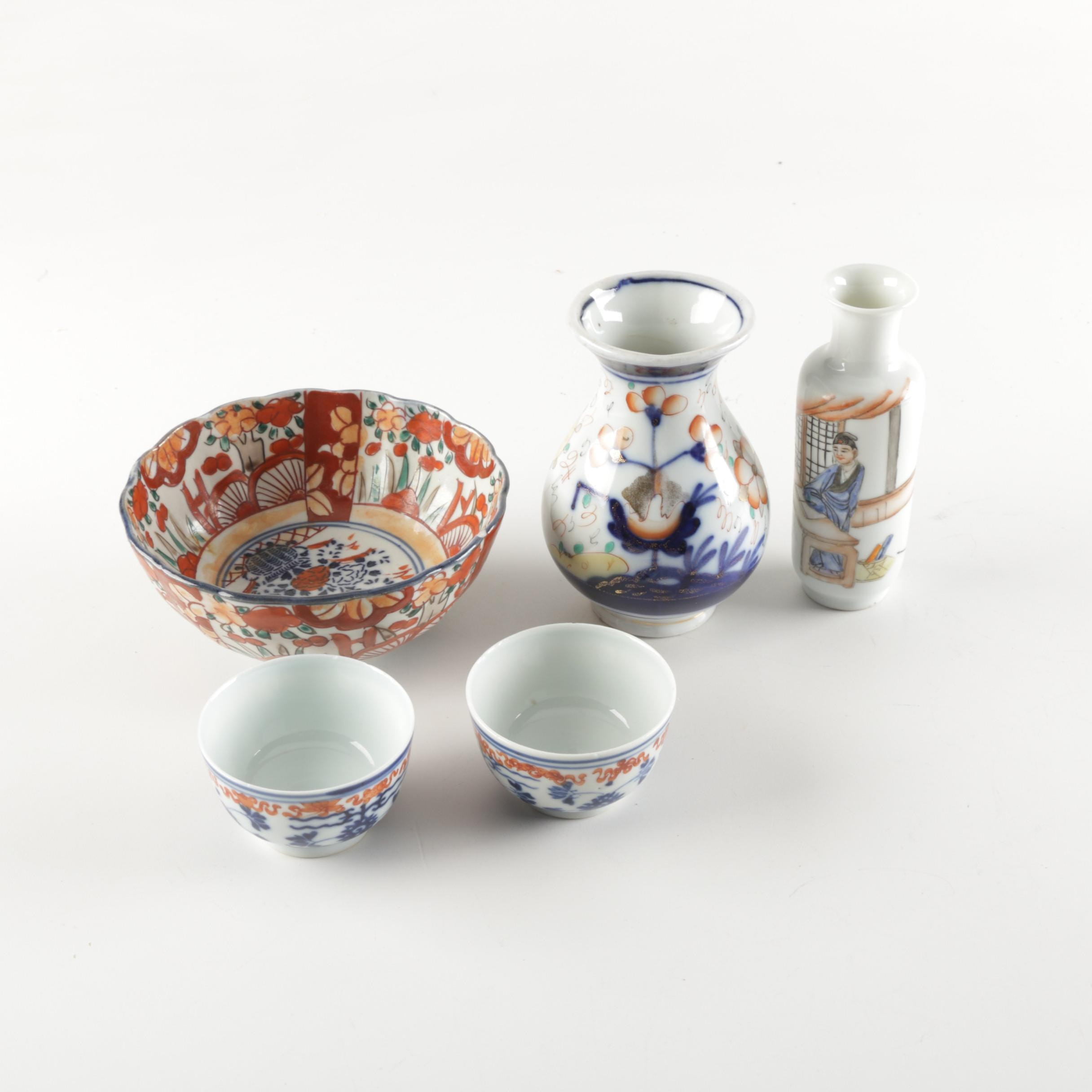 Asian Inspired Porcelain Vases and Tableware