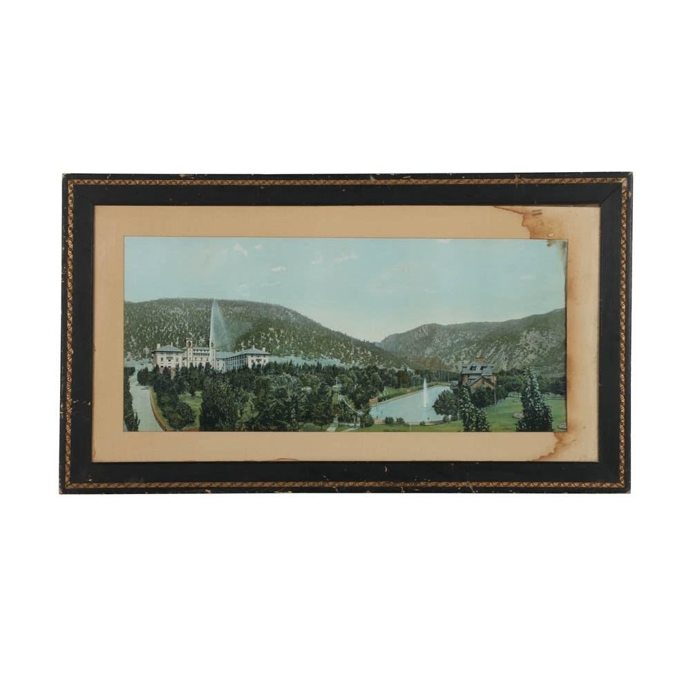 """Reproduction Print on Paper """"Glenwood Hot Springs, Colorado"""""""