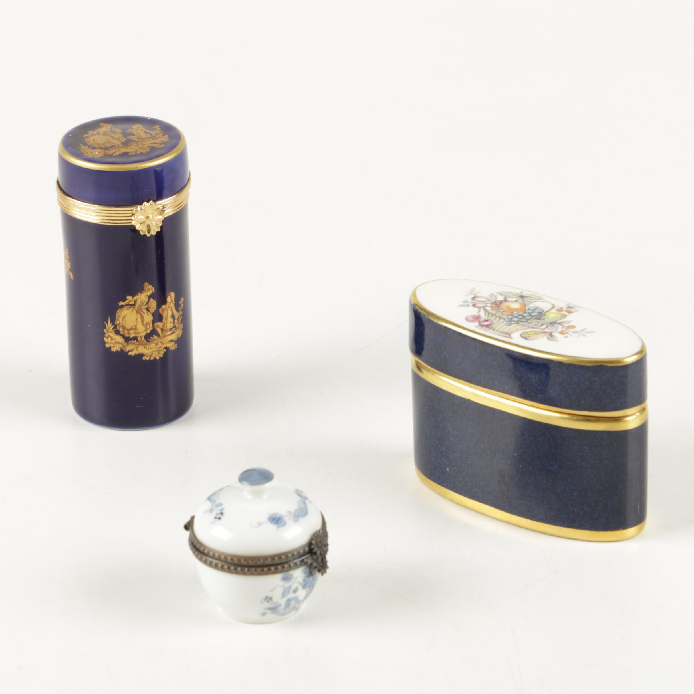 Trinket Boxes Featuring Limoges