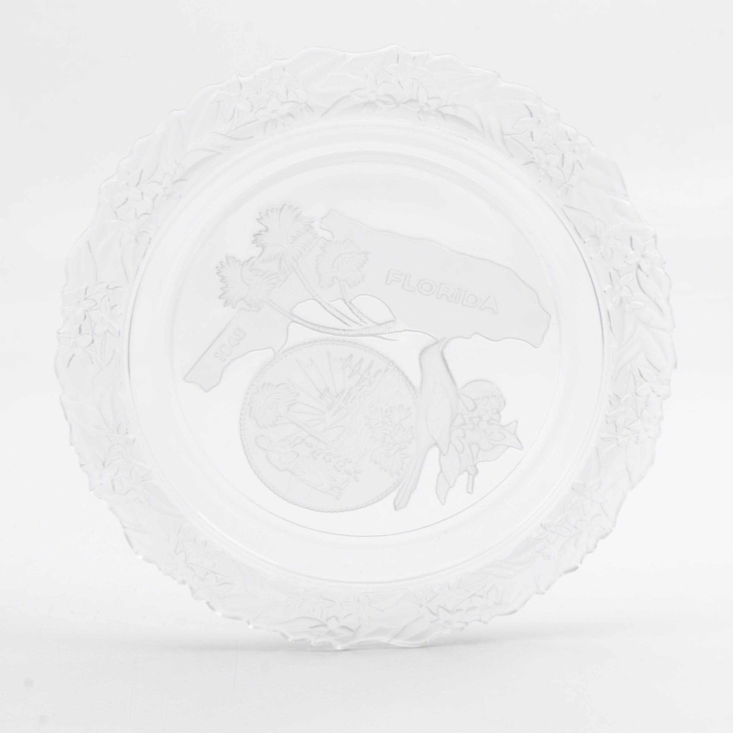 Glass Florida Souvenir Plate