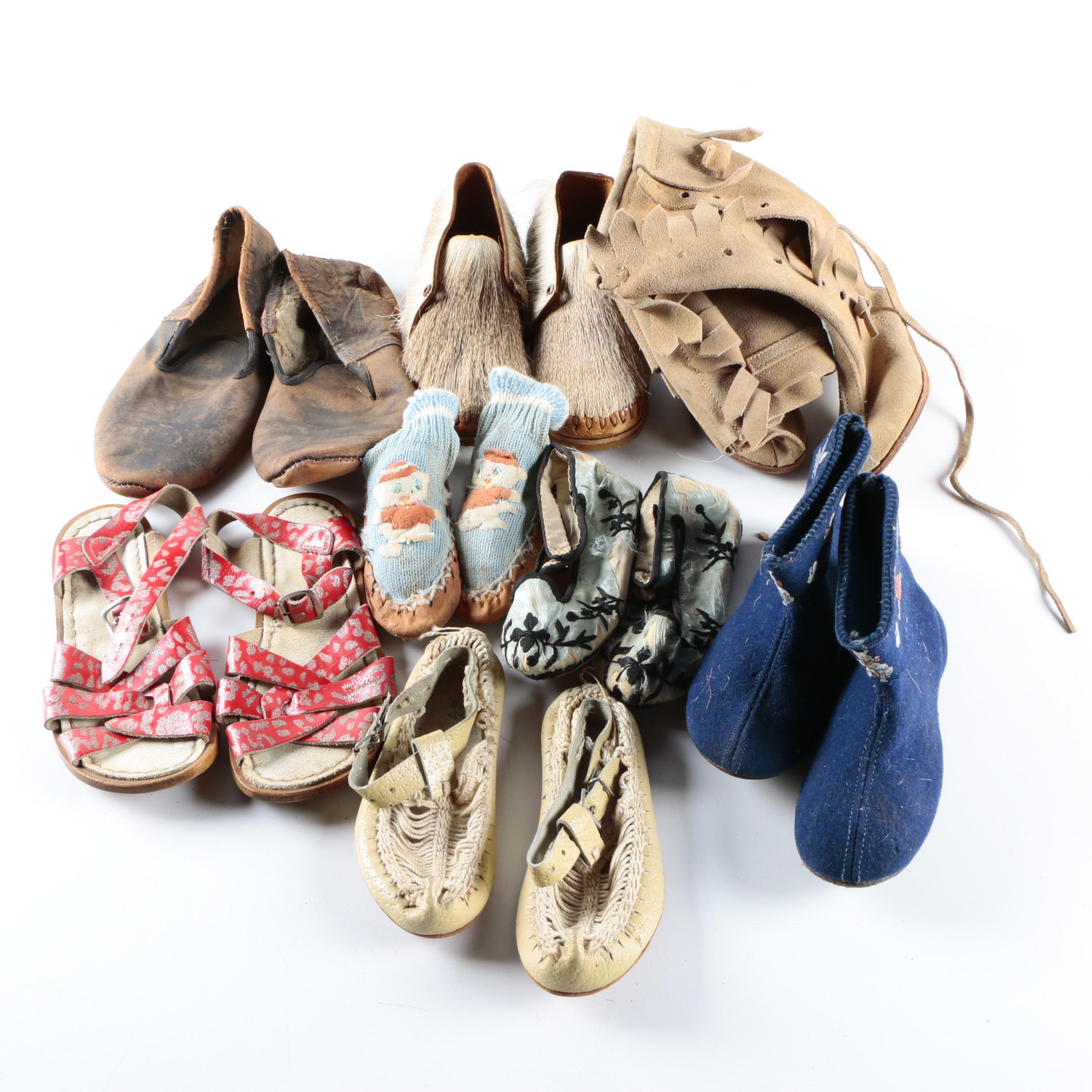 Children's Vintage Footwear Including Hoy Shoe