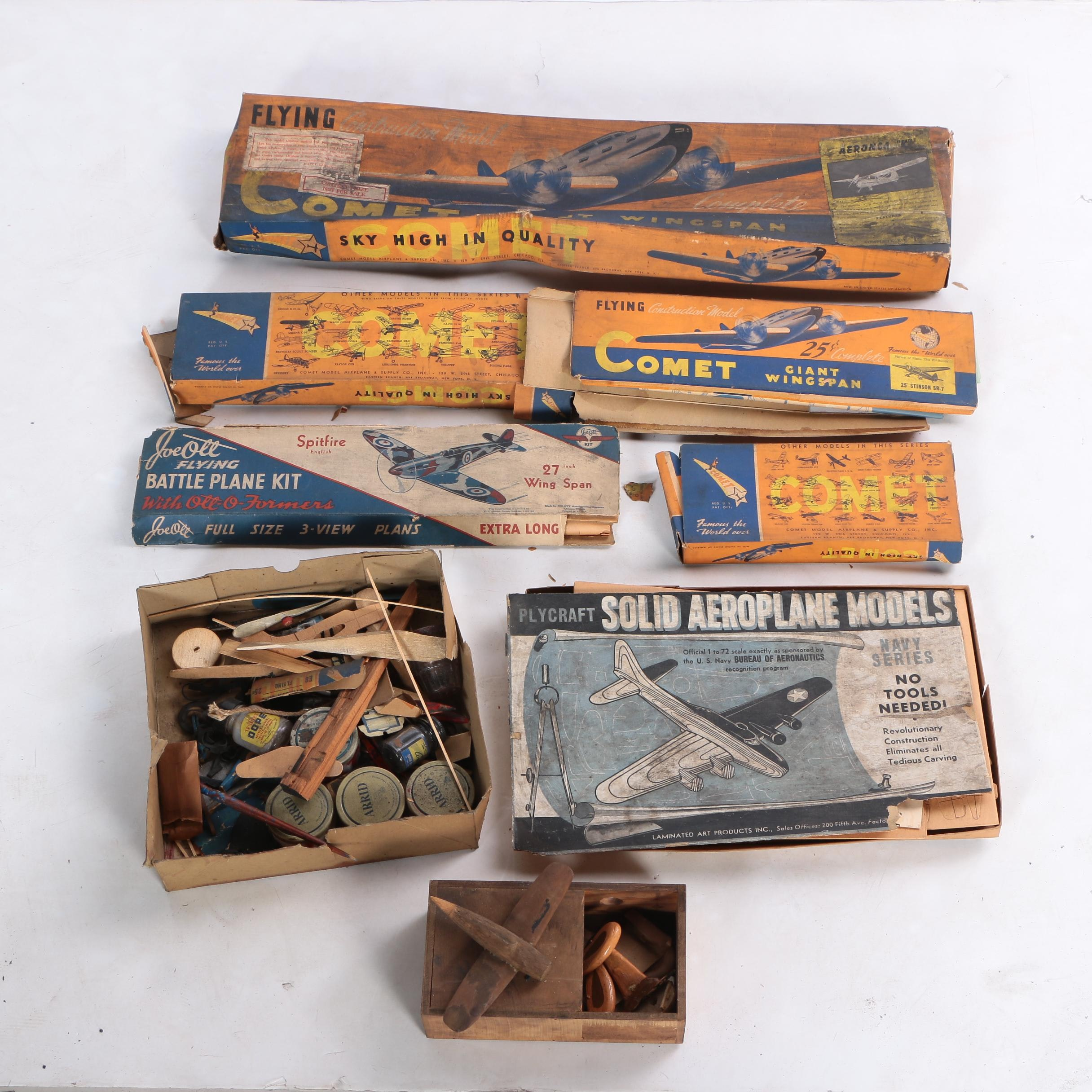 Vintage Model Airplane Kits and Accessories