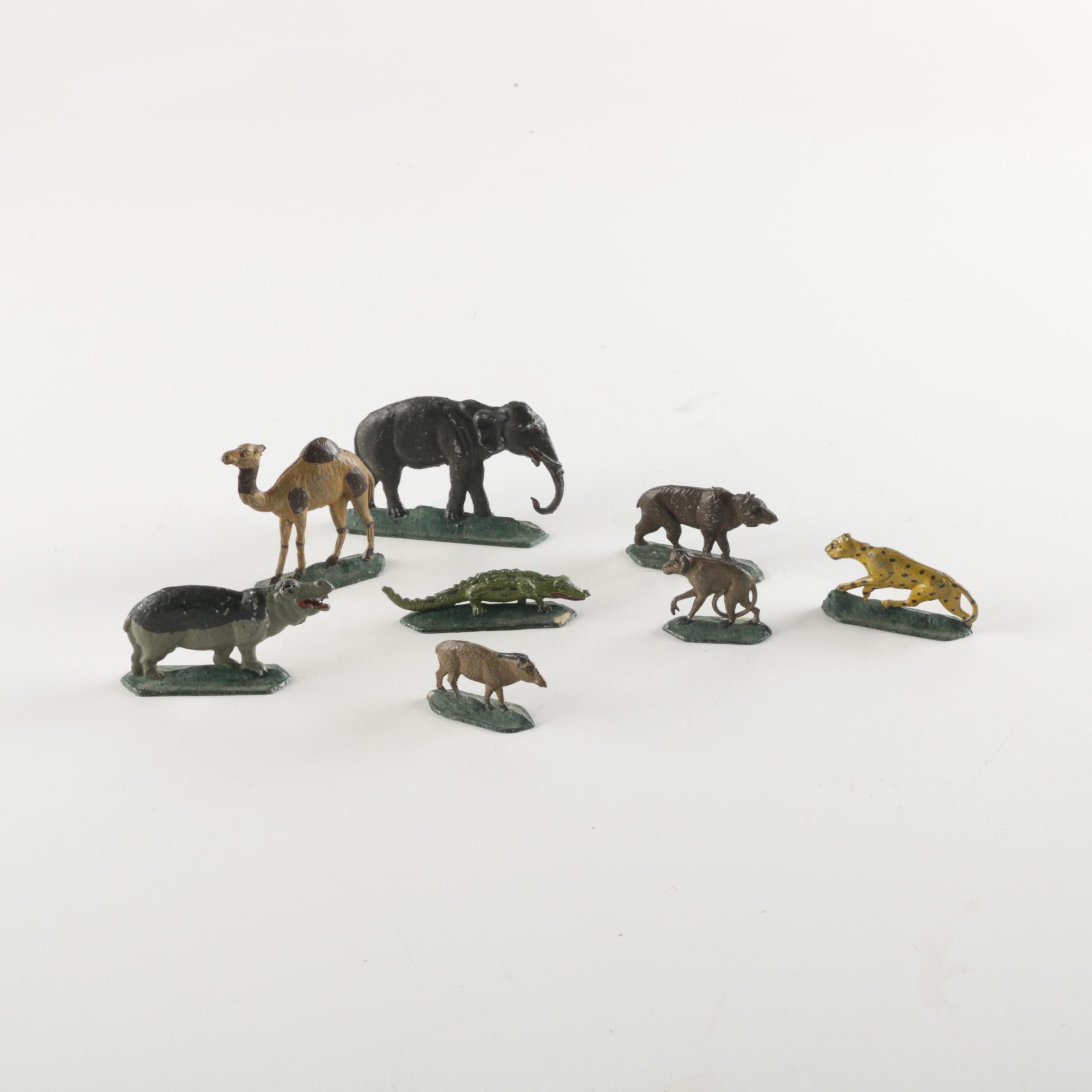 Cast Metal Animal Figurines