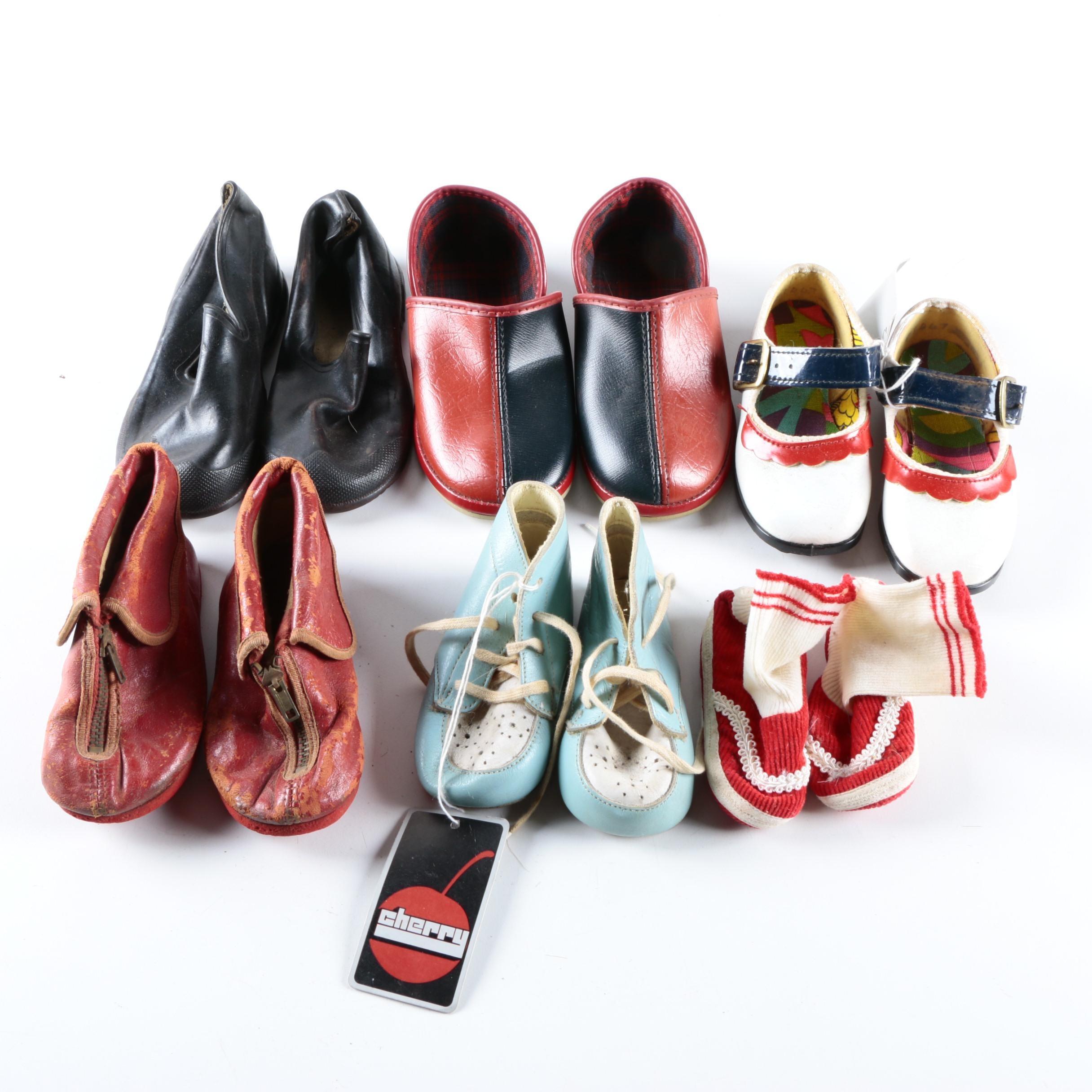 1940s & 1950s Children's Vintage Footwear Including Beacon Falls