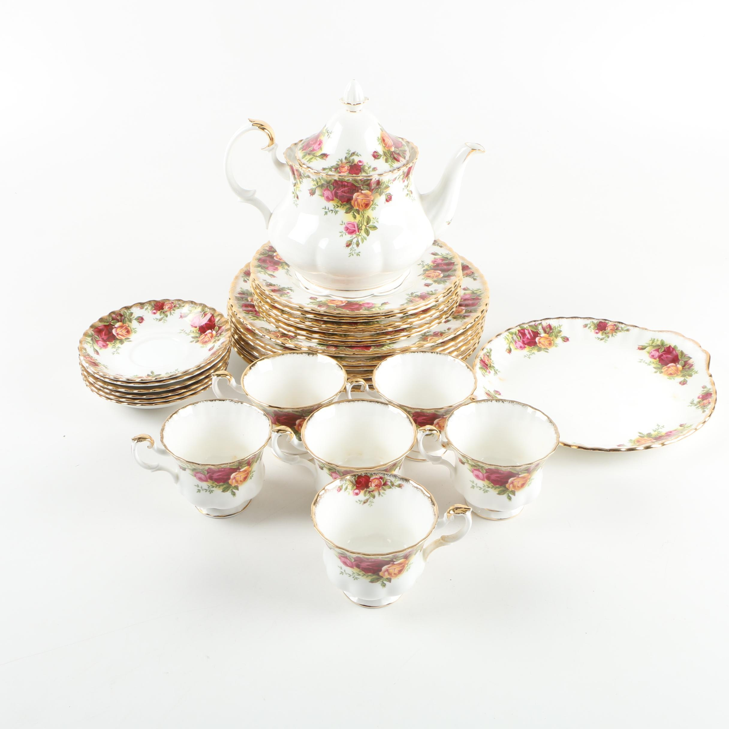 "Royal Albert ""Old Country Roses"" Bone China Tableware, Circa 1962"